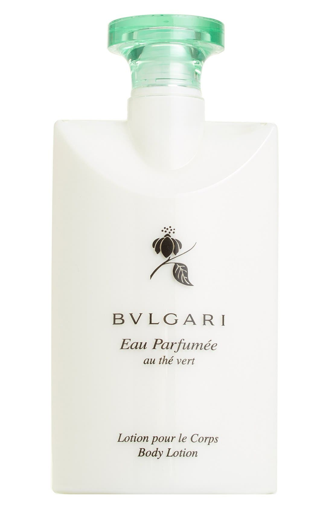 BVLGARI,                             'Eau Parfumée au thé Vert' Body Lotion,                             Main thumbnail 1, color,                             NO COLOR