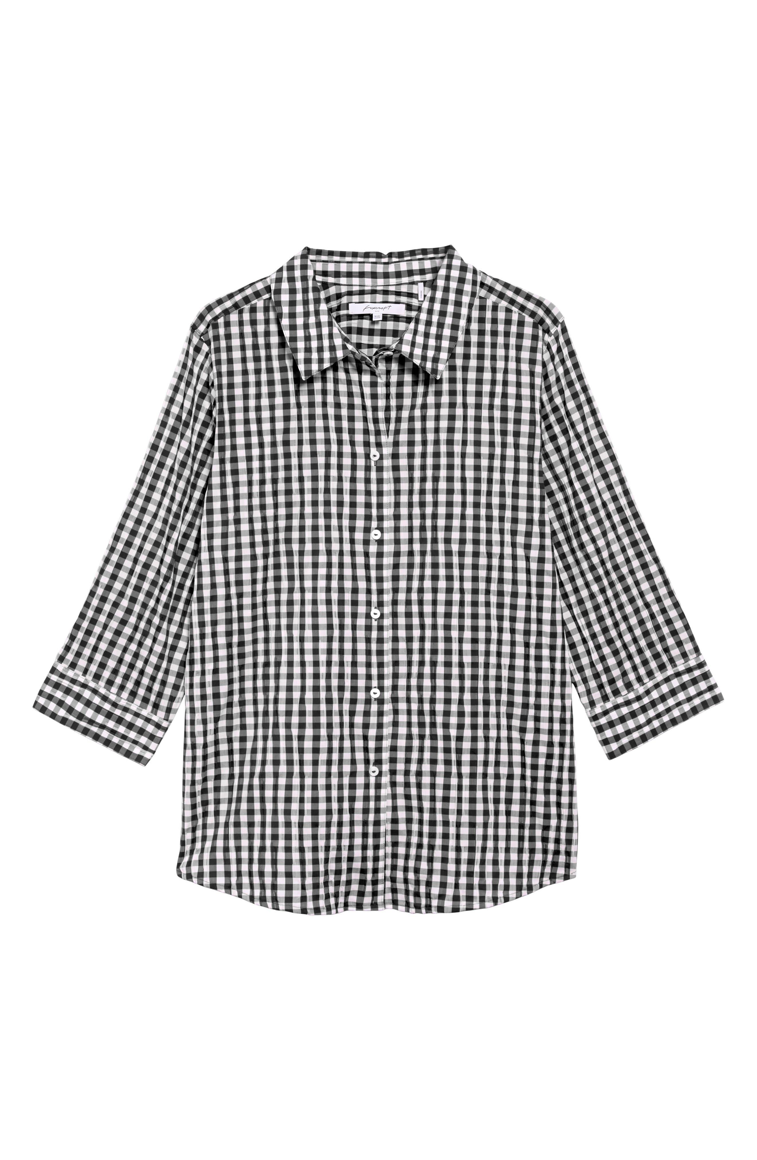 Gingham Shirt,                             Alternate thumbnail 6, color,                             001