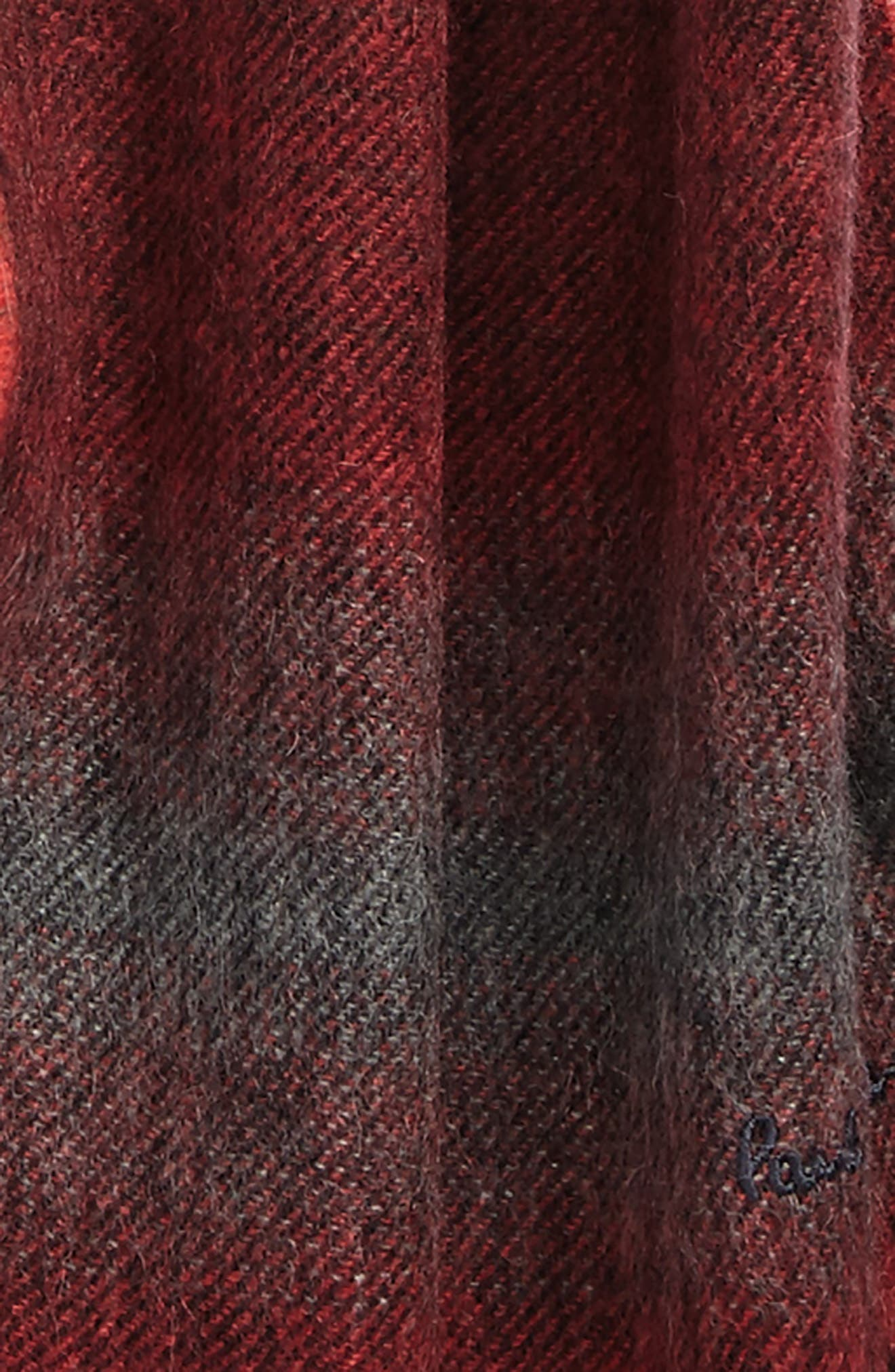 Fade Stripe Wool & Cashmere Scarf,                             Alternate thumbnail 3, color,                             310