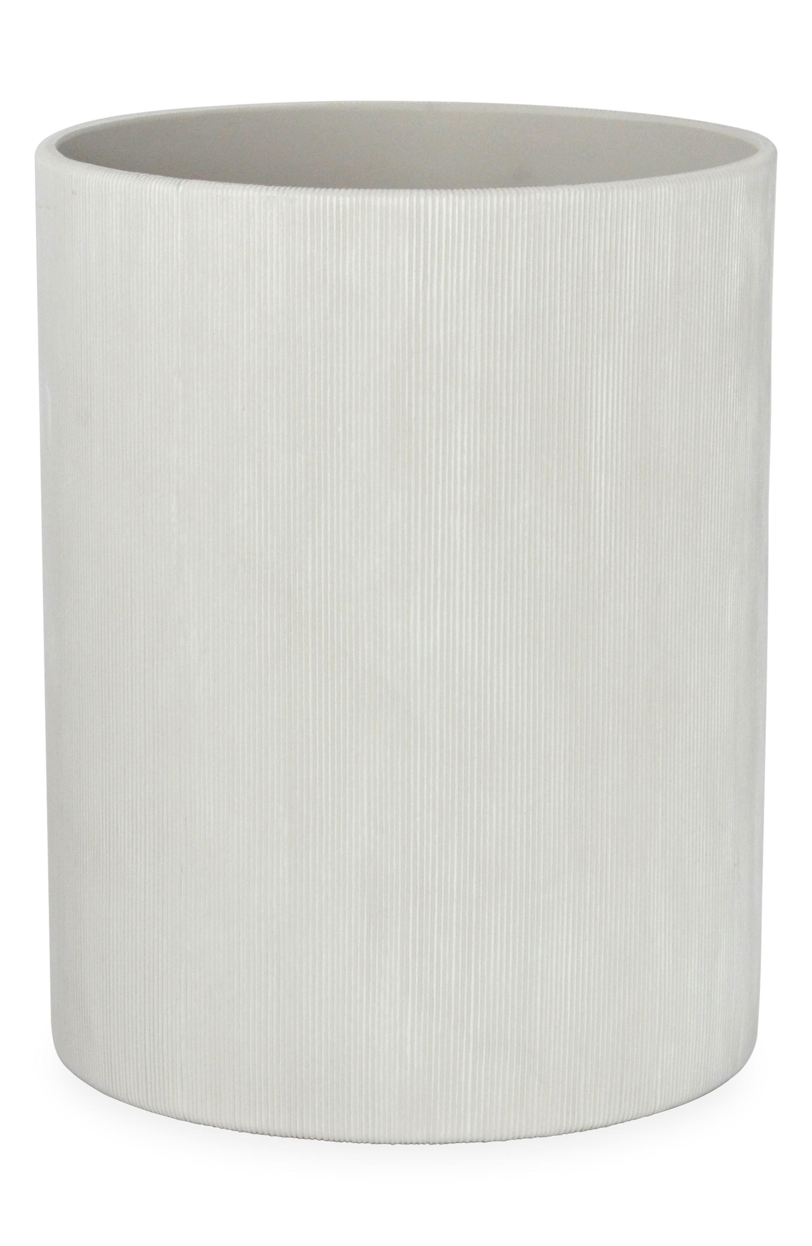 Fine Lines Ceramic Wastebasket,                         Main,                         color,