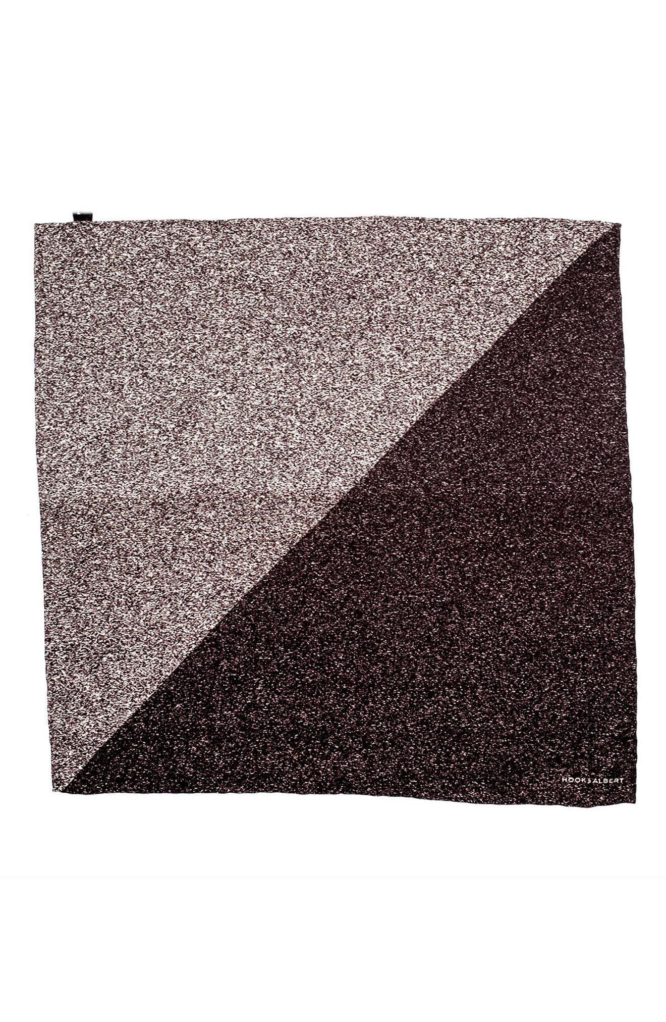 Geometric Silk Pocket Square,                             Alternate thumbnail 2, color,                             020