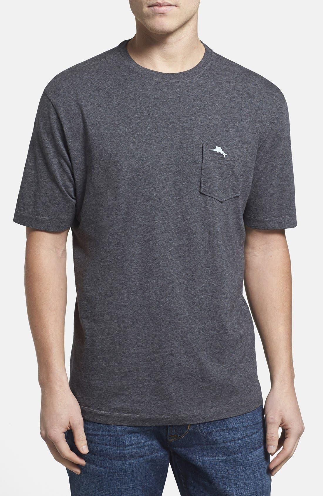 'New Bali Sky' Original Fit Crewneck Pocket T-Shirt,                             Main thumbnail 1, color,                             001