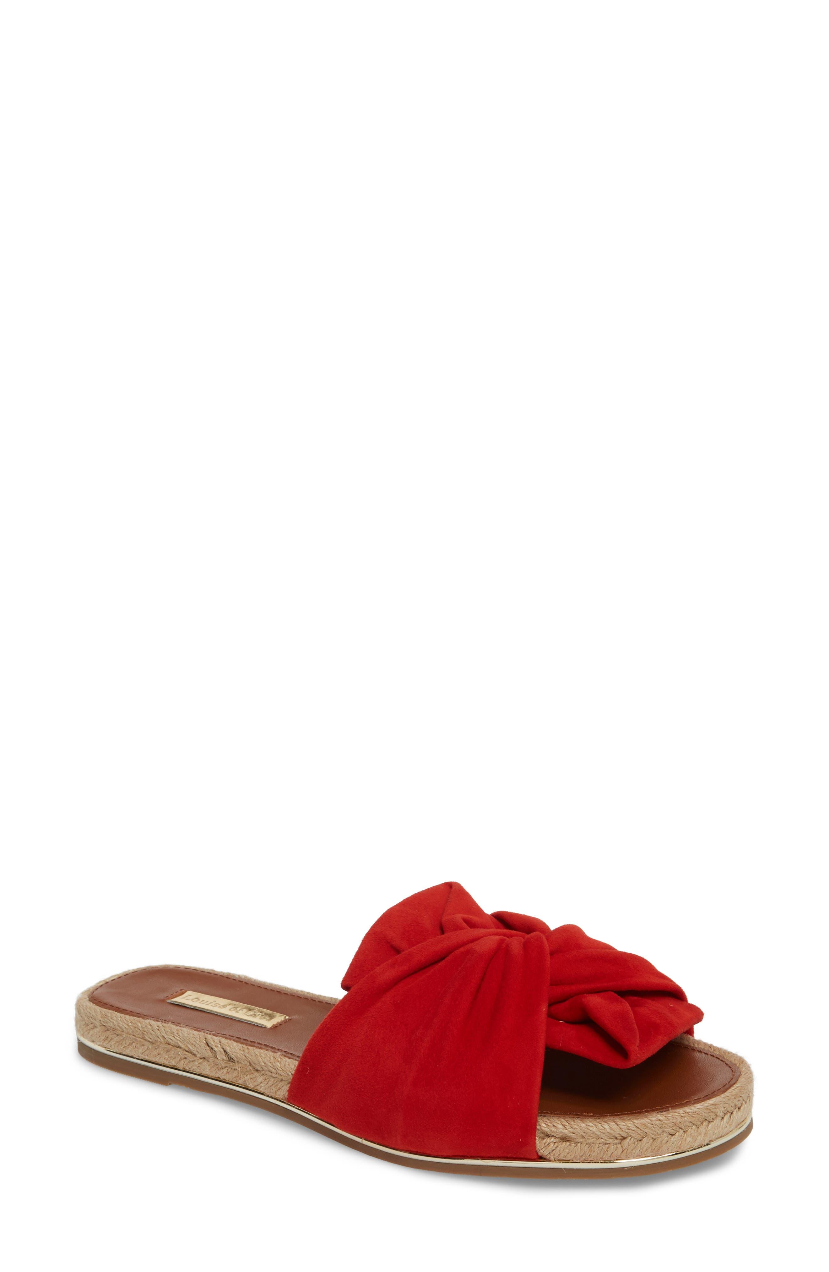 Louise Et Cie Camille Espadrille Slide Sandal- Red
