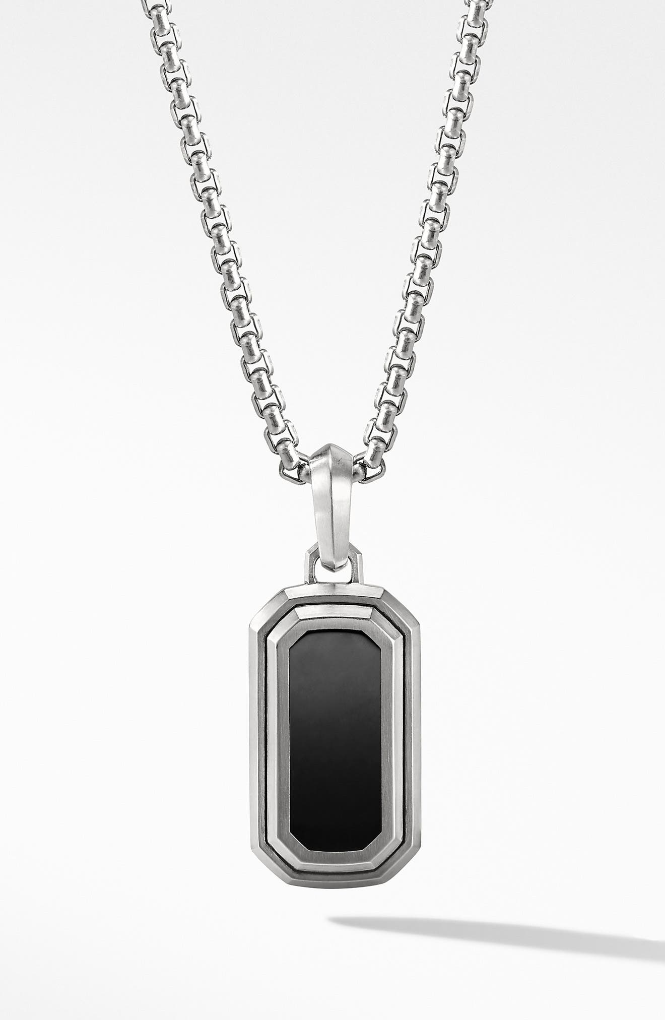 Deco Amulet with Black Onyx,                             Main thumbnail 1, color,                             BLACK ONYX