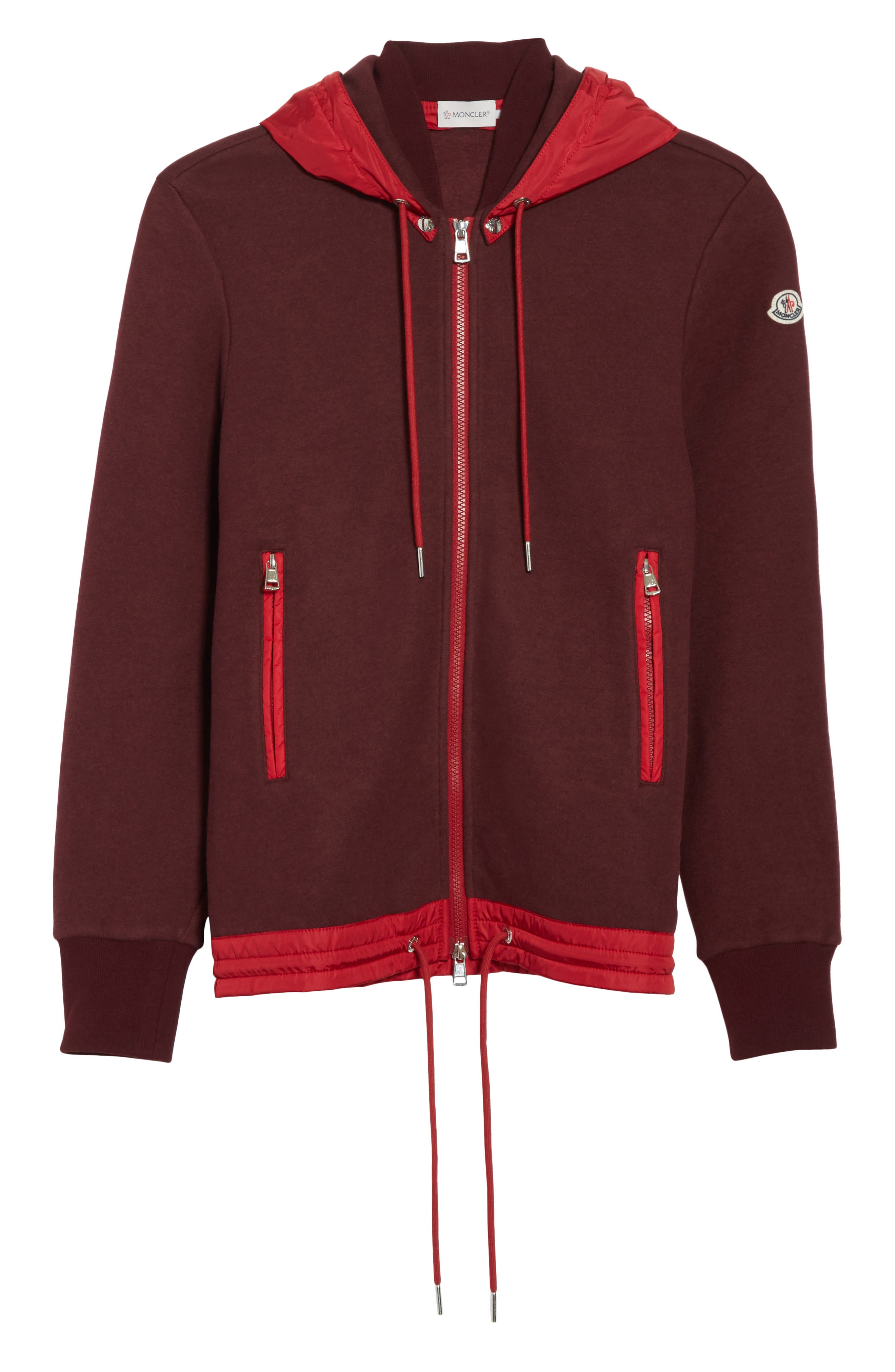 Maglia Knit Bomber with Removable Hood,                             Alternate thumbnail 6, color,