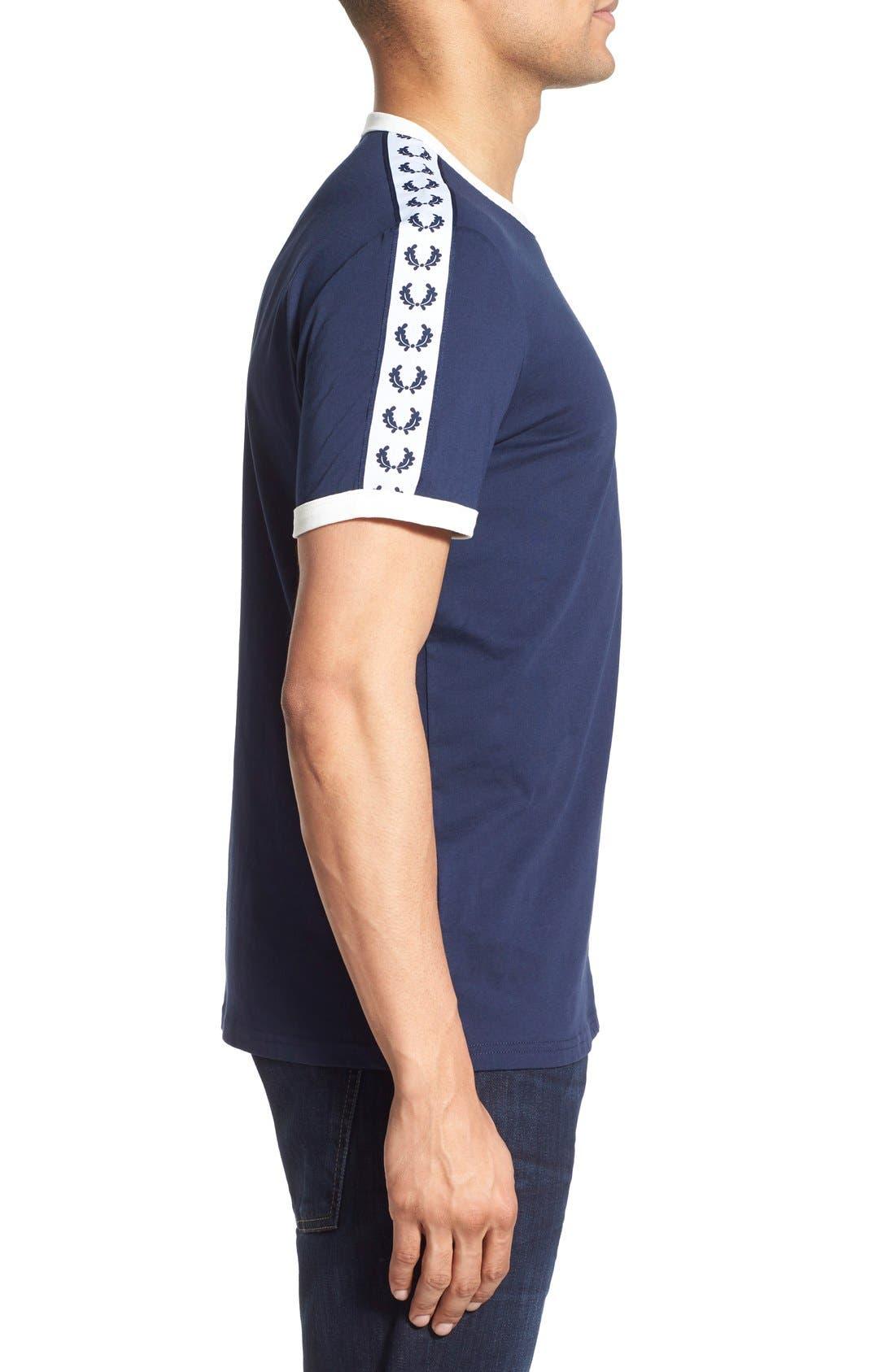 Extra Trim Fit Cotton Ringer T-Shirt,                             Alternate thumbnail 20, color,