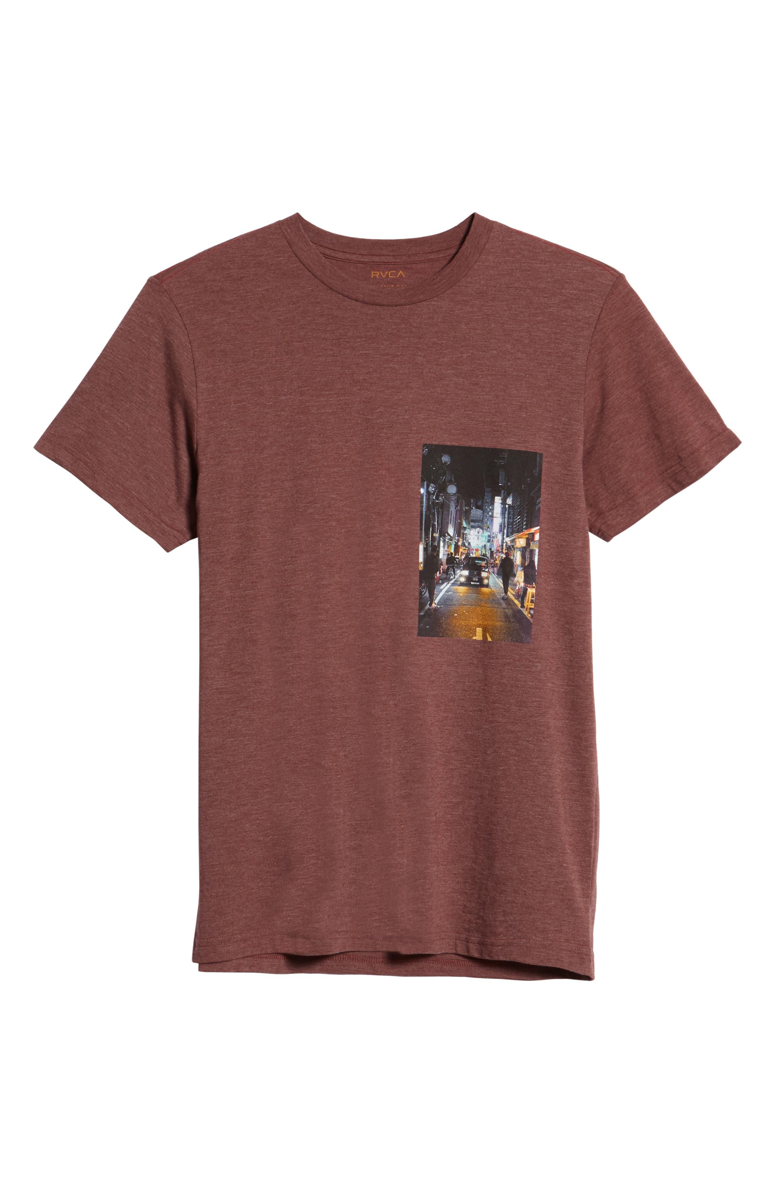 Curren Photo Graphic T-Shirt,                             Alternate thumbnail 6, color,                             BORDEAUX