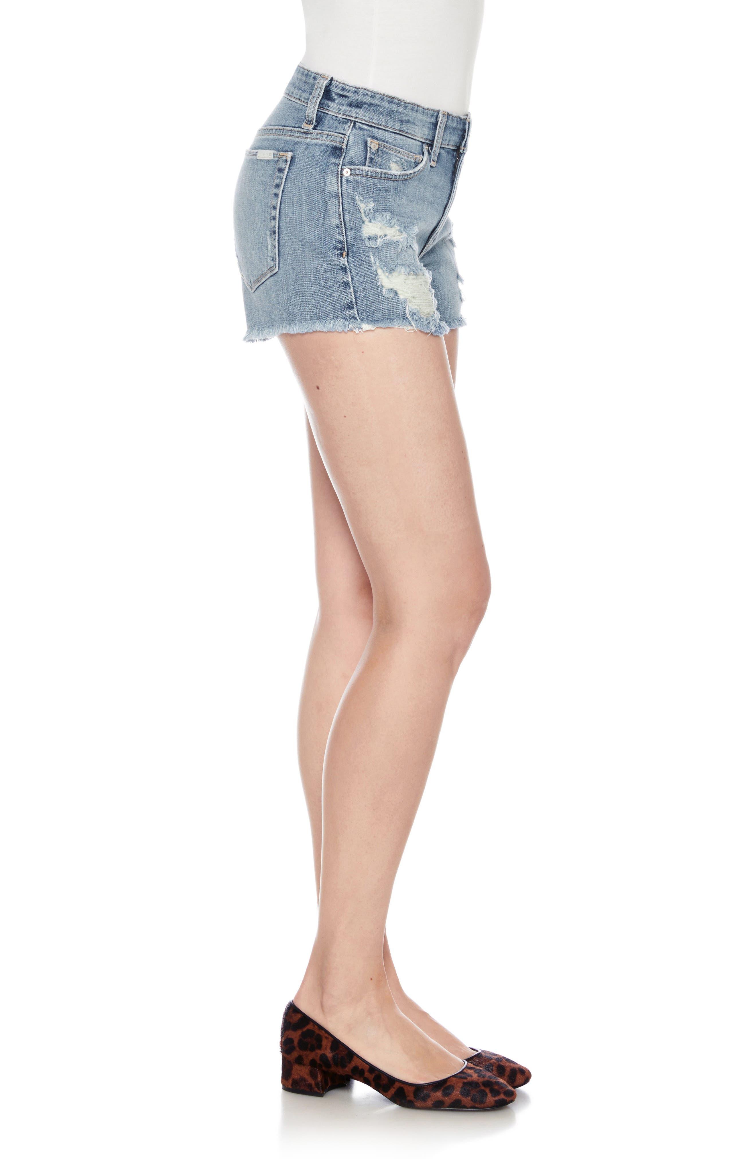Ozzie Cutoff Denim Shorts,                             Alternate thumbnail 3, color,                             BEXLEY