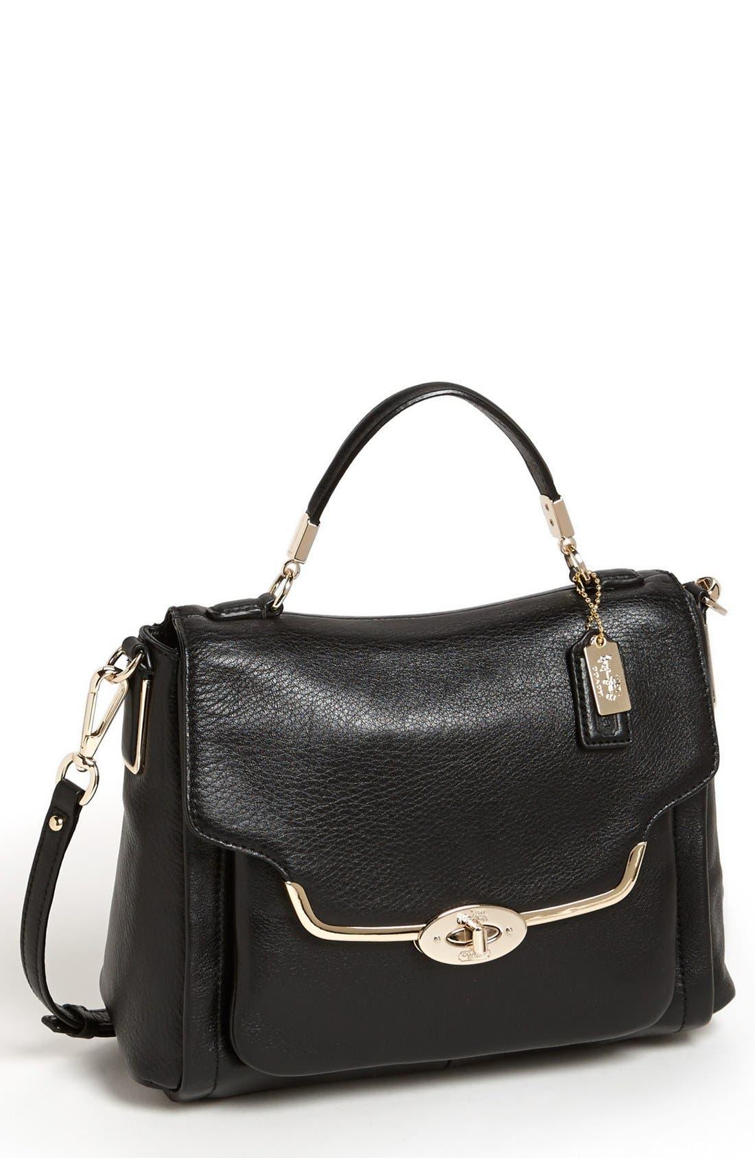 'Madison - Sadie Small' Leather Satchel, Main, color, 019