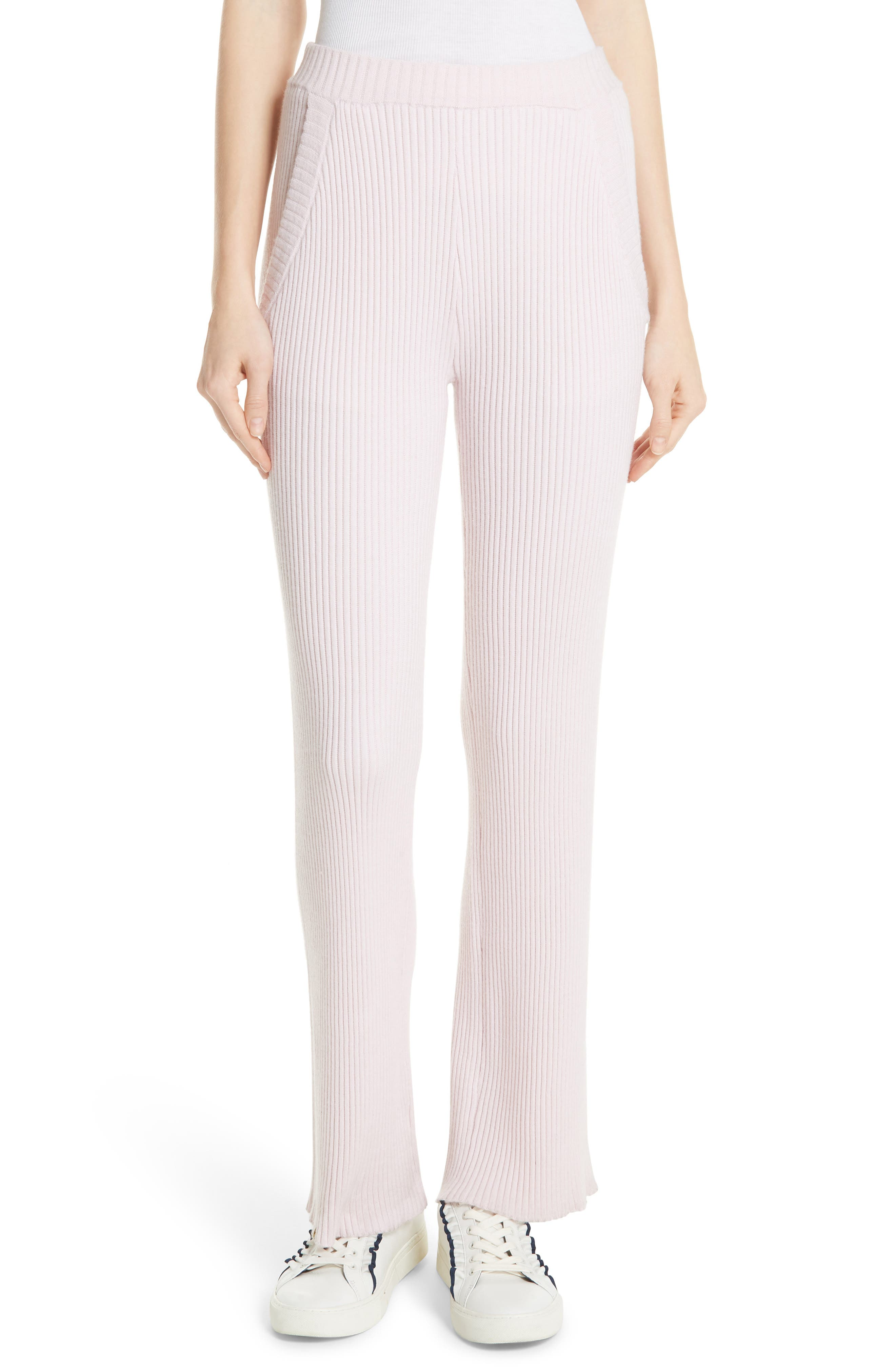 Performance Cashmere Wide Leg Pants in Cotton Pink
