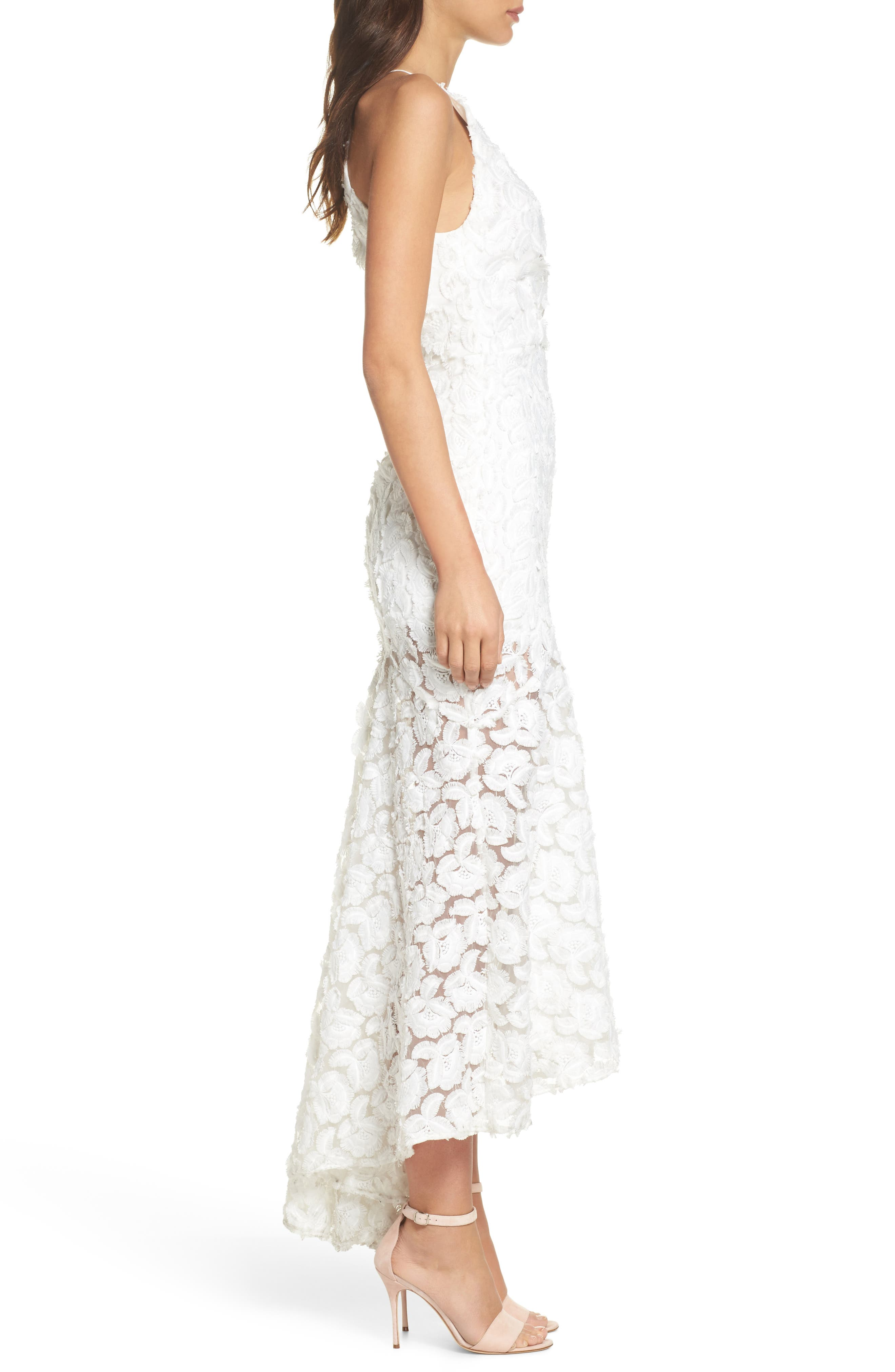 Floral Mirage Mermaid Gown,                             Alternate thumbnail 3, color,