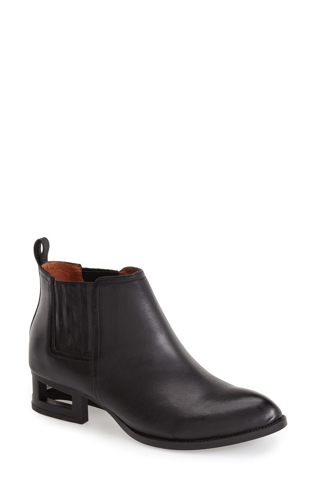 'Metcalf' Caged Heel Bootie,                             Main thumbnail 1, color,                             001