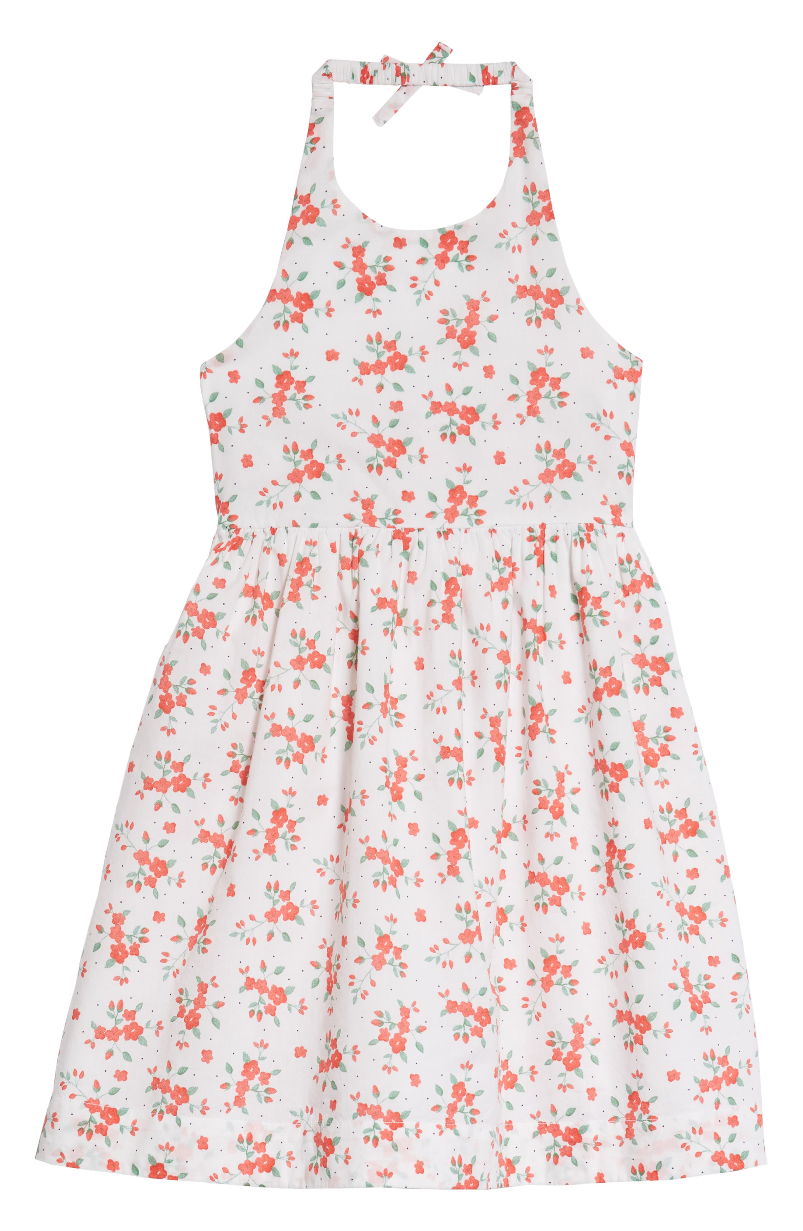 Floral Halter Dress,                             Main thumbnail 1, color,                             100