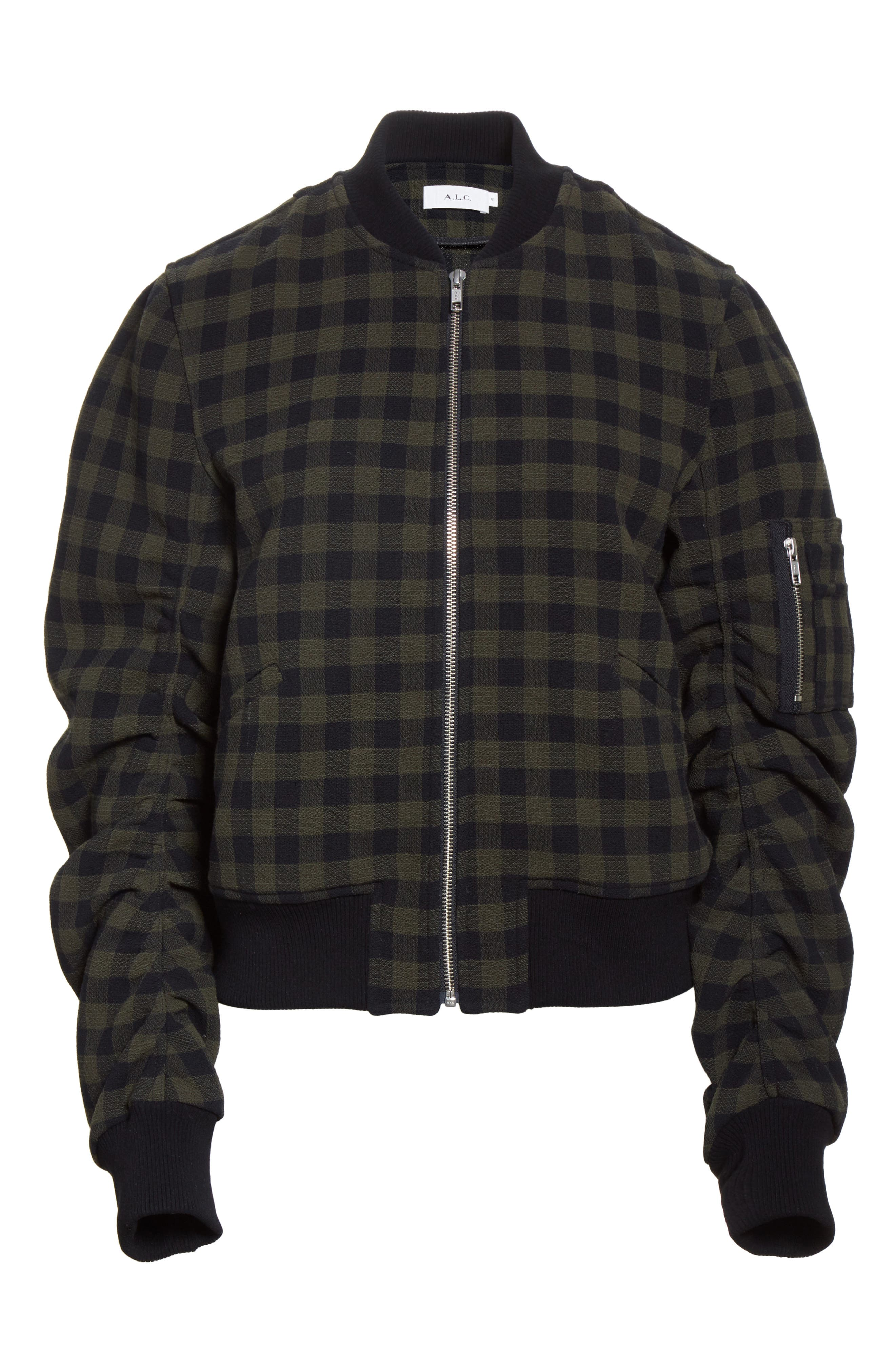 A..L.C. Andrew Wool Bomber Jacket,                             Alternate thumbnail 5, color,                             340