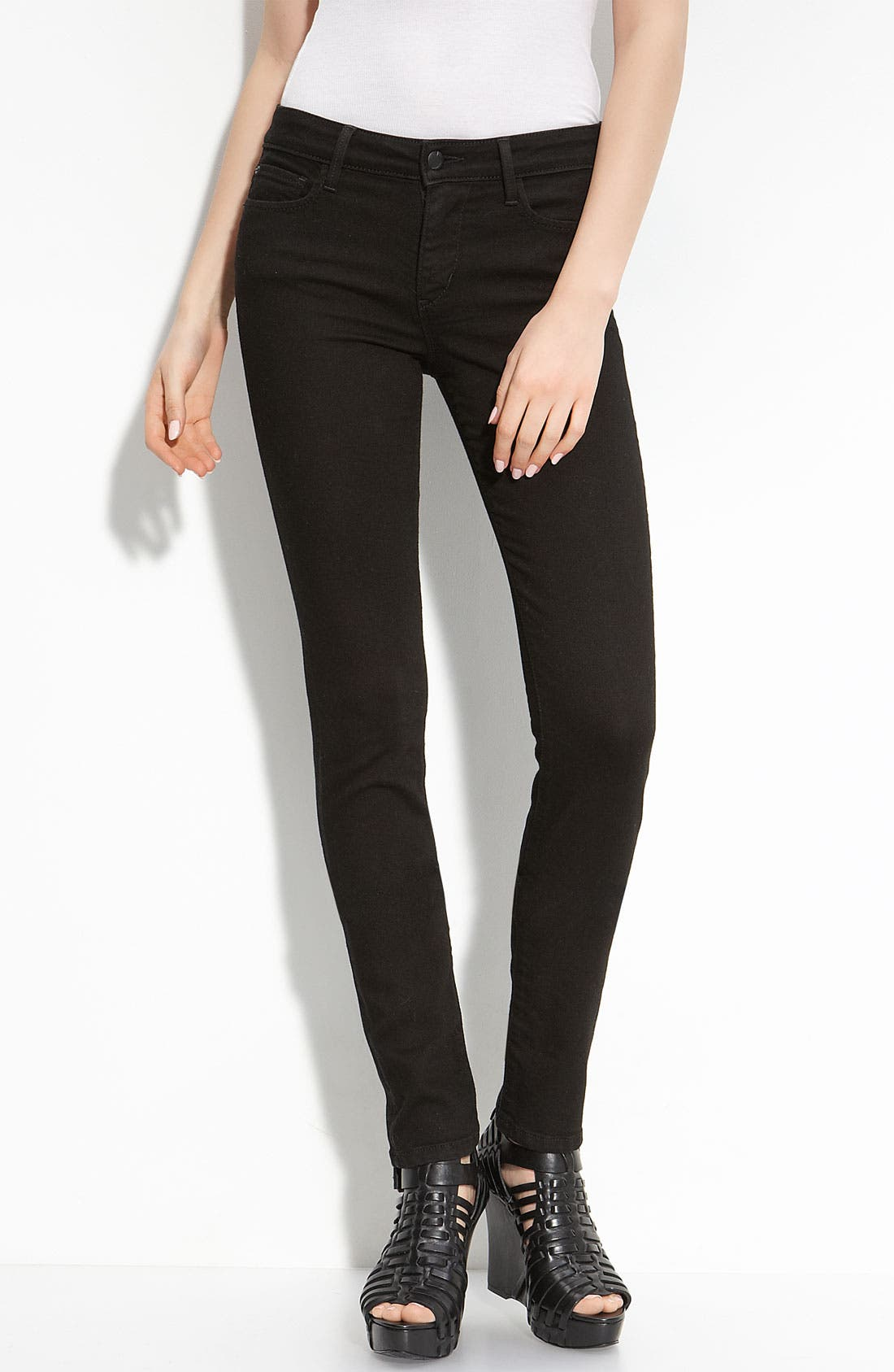 'Visionaire' Skinny Stretch Jeans,                             Main thumbnail 1, color,                             001