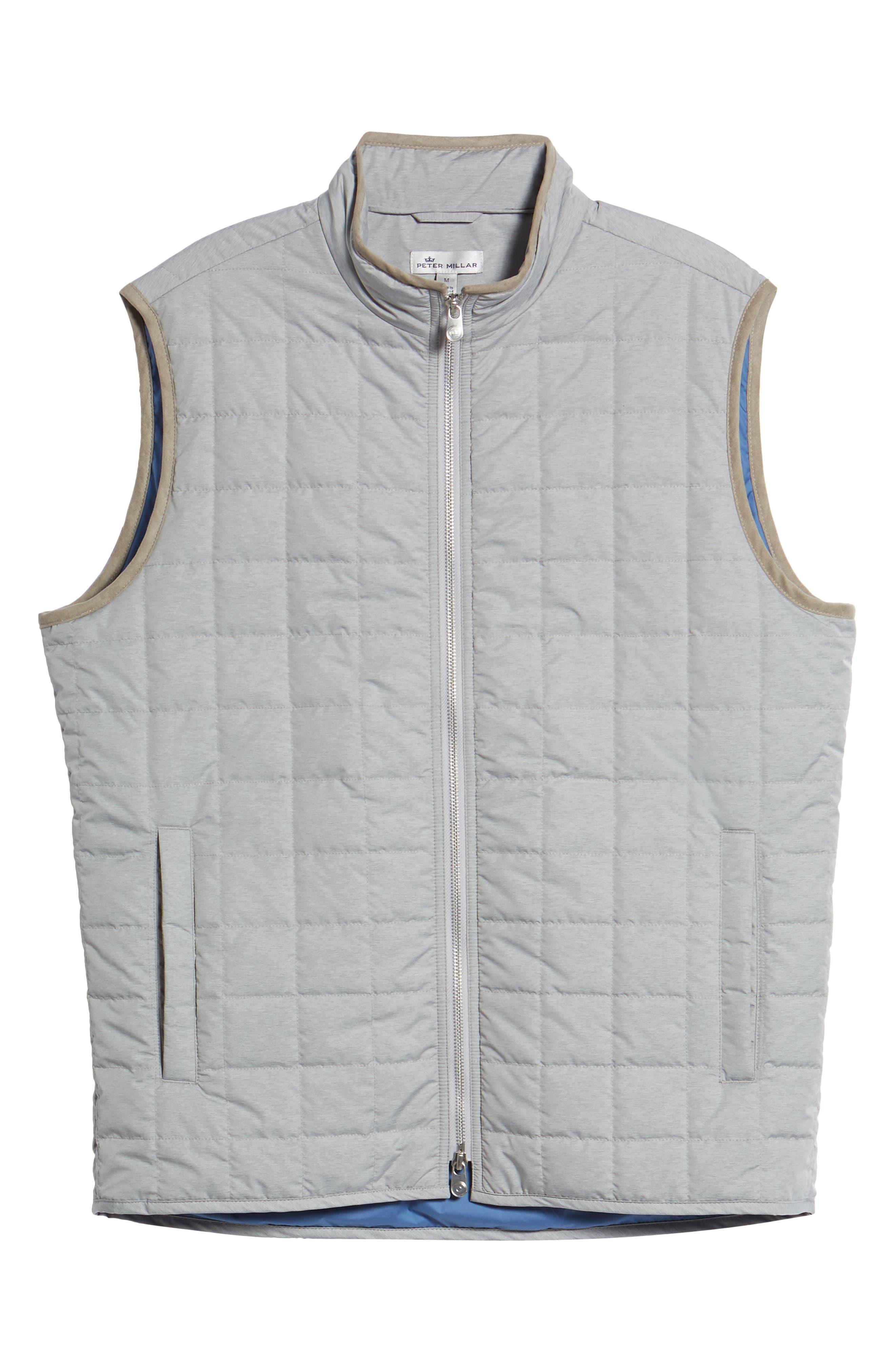 Seneca Quilted Vest,                             Alternate thumbnail 6, color,                             BRITISH GREY