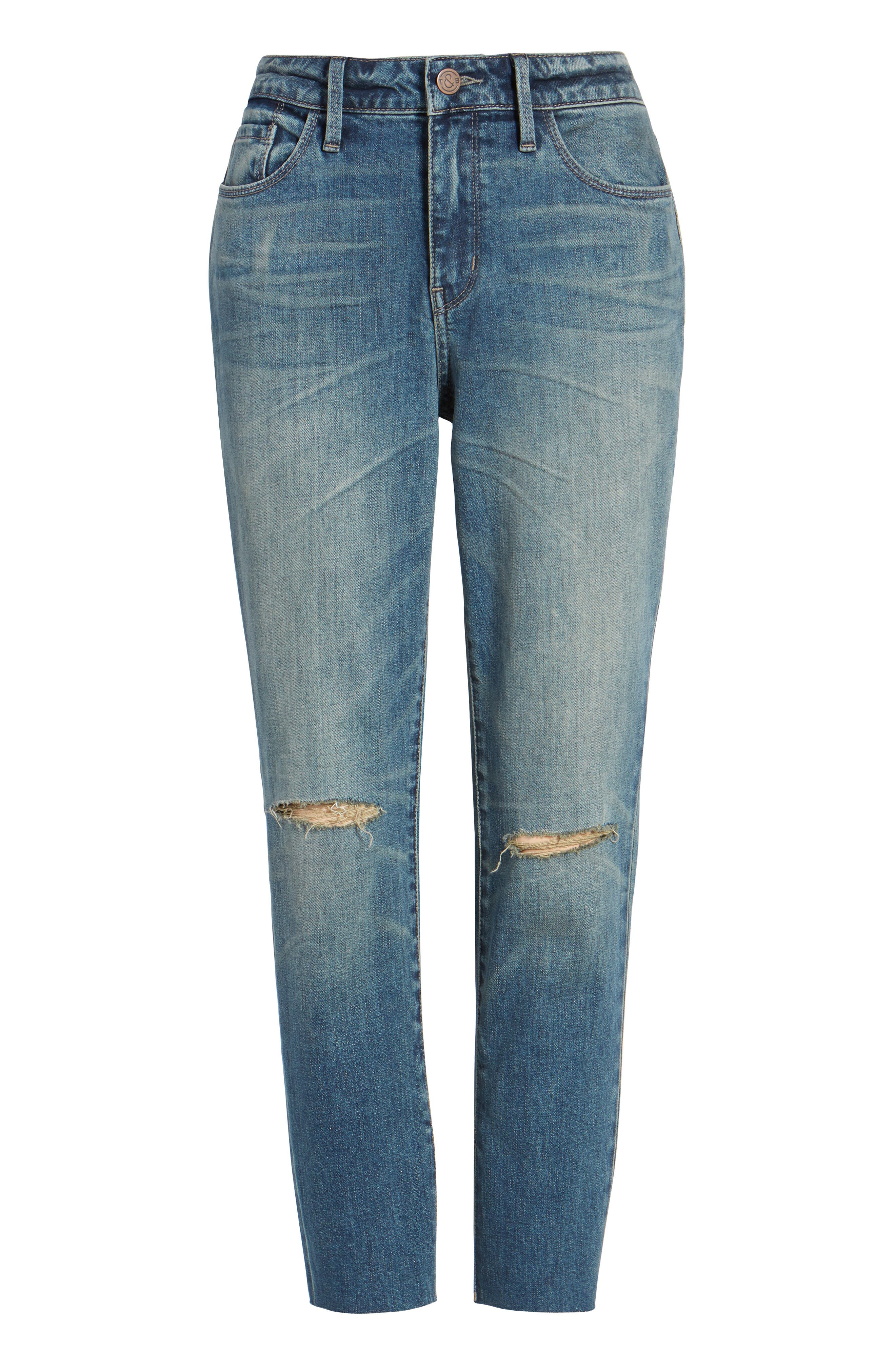 High Waist Skinny Crop Jeans,                             Alternate thumbnail 6, color,                             400