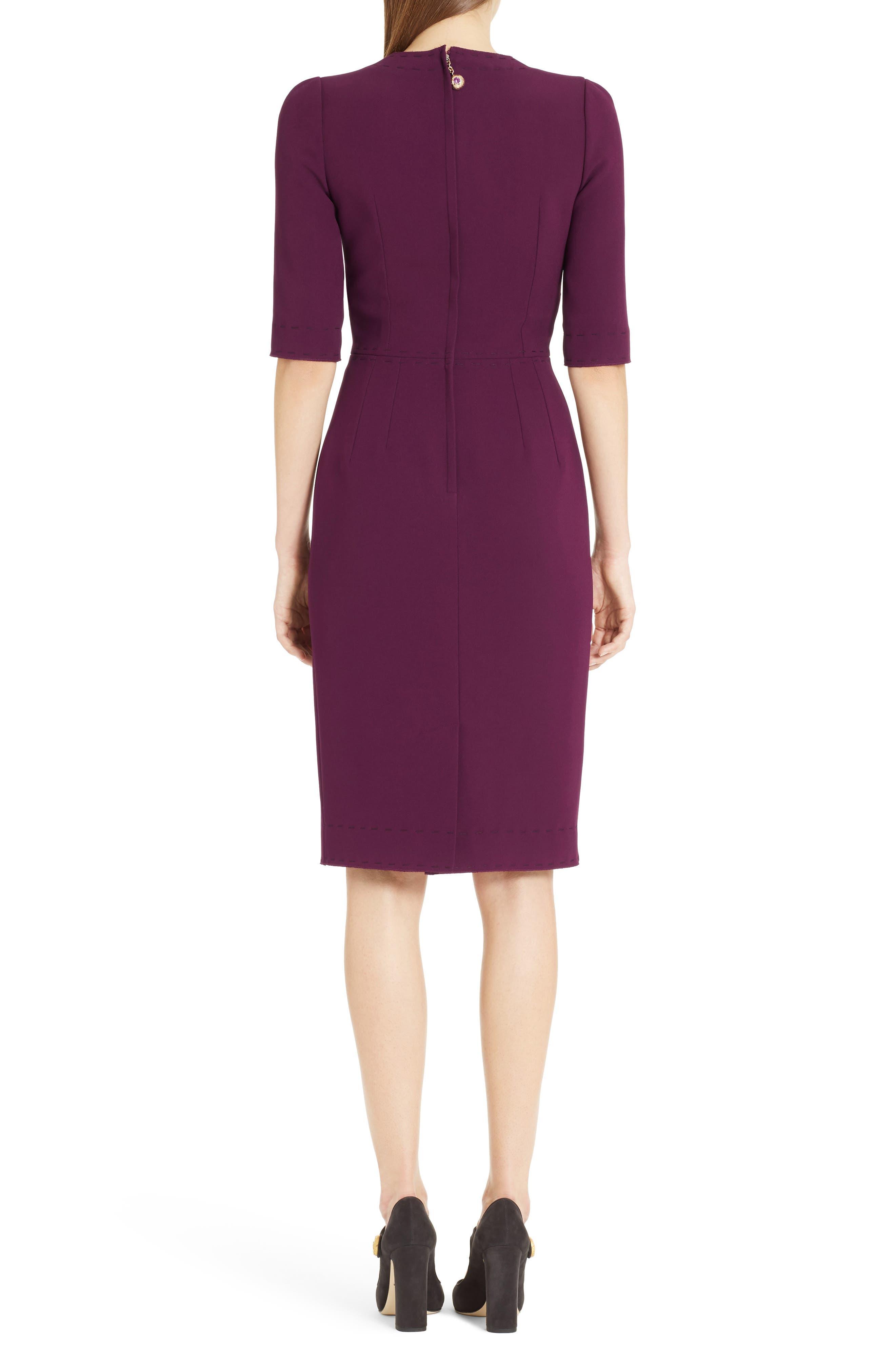 Stretch Cady Sheath Dress,                             Alternate thumbnail 4, color,