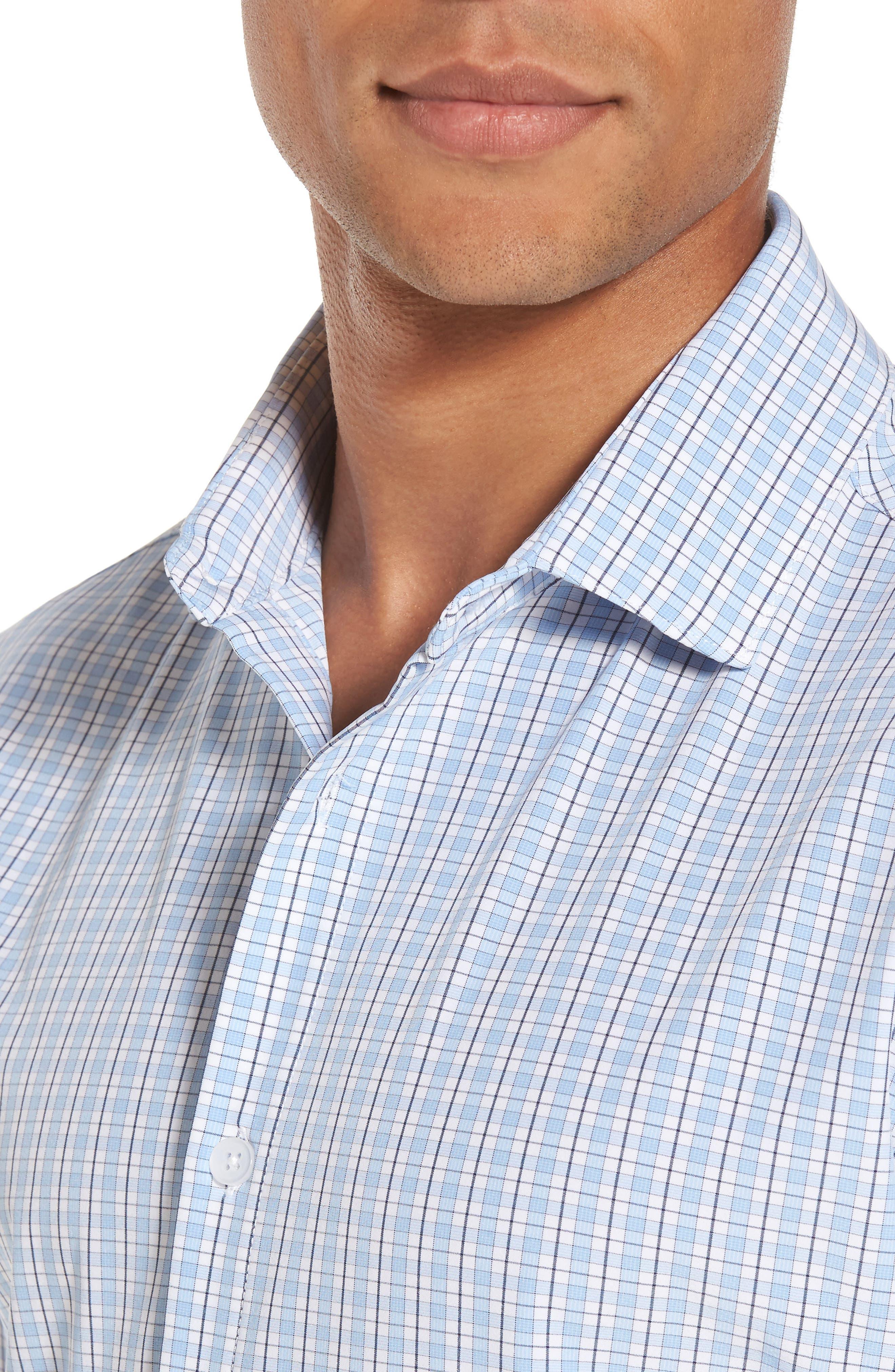 Benson Check Sport Shirt,                             Alternate thumbnail 4, color,                             400