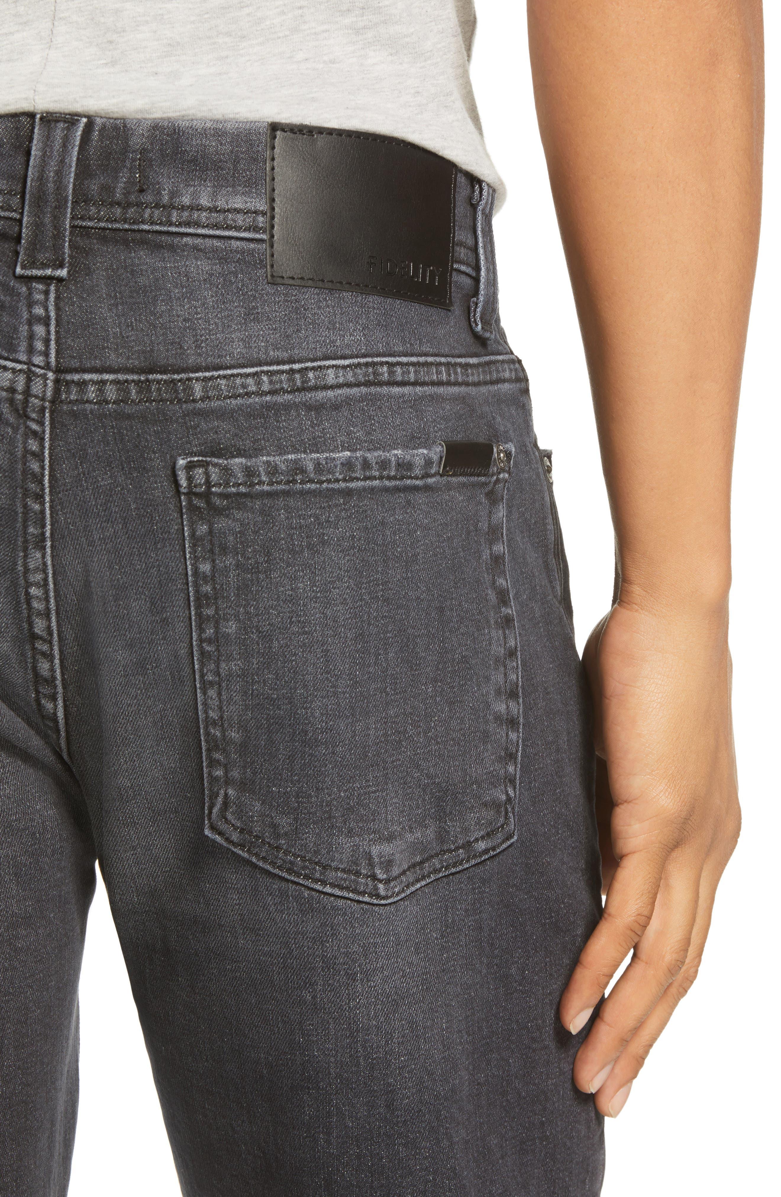 Jimmy Slim Straight Leg Jeans,                             Alternate thumbnail 4, color,                             RAVEN VINTAGE