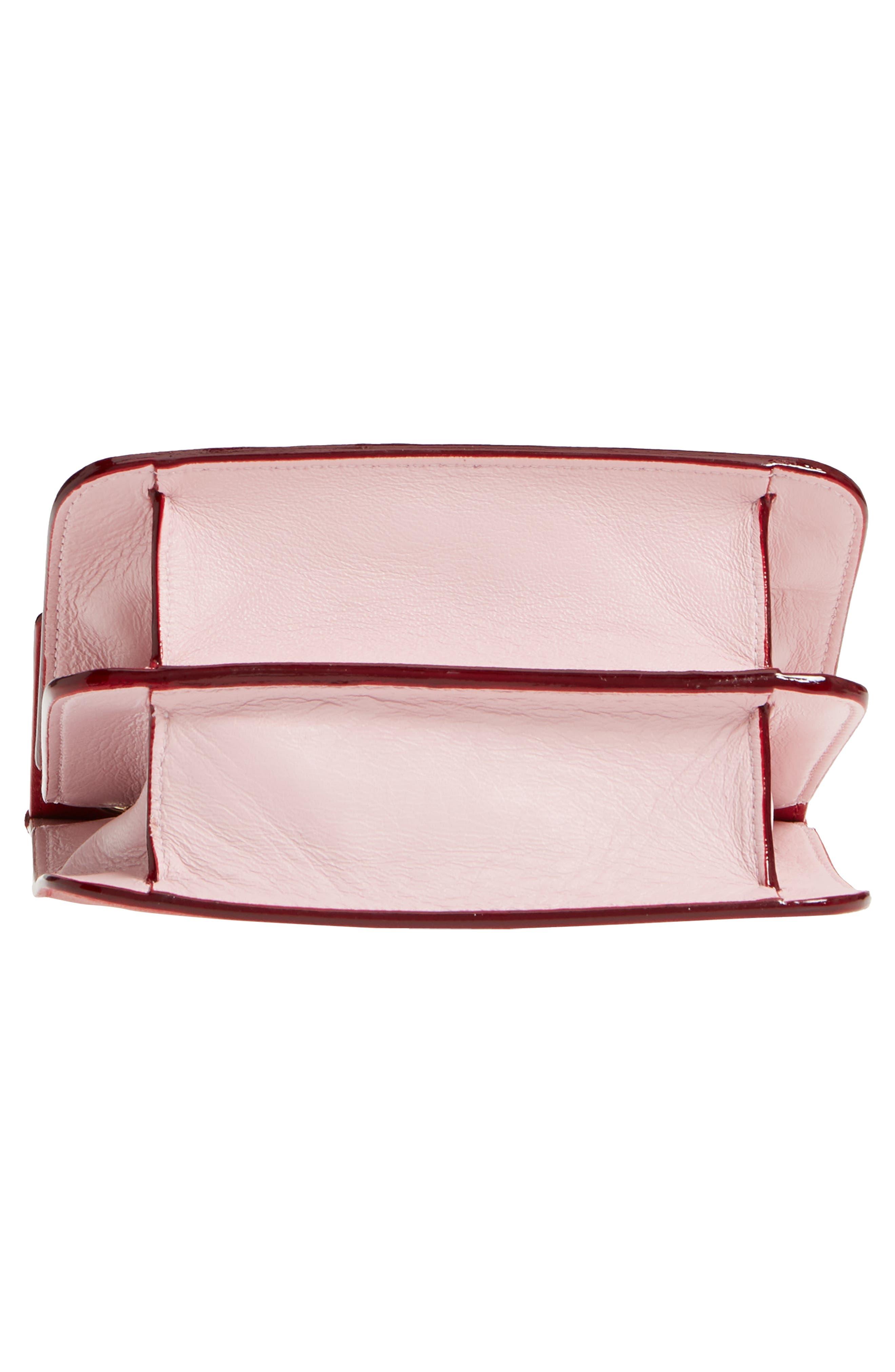 Rebel Mini Colorblock Leather Crossbody Bag,                             Alternate thumbnail 6, color,                             600