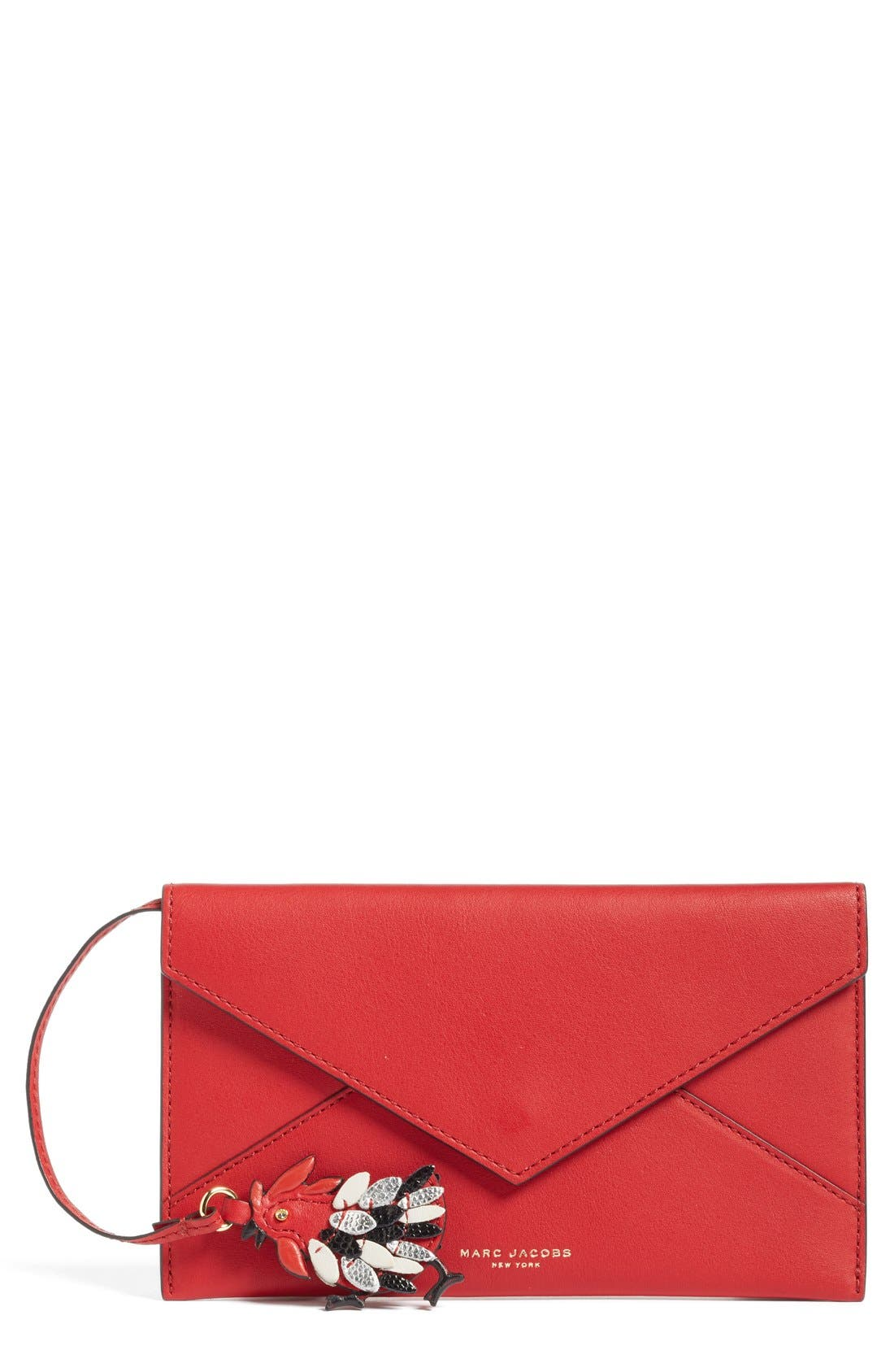 Rooster Envelope Clutch,                             Main thumbnail 1, color,                             647