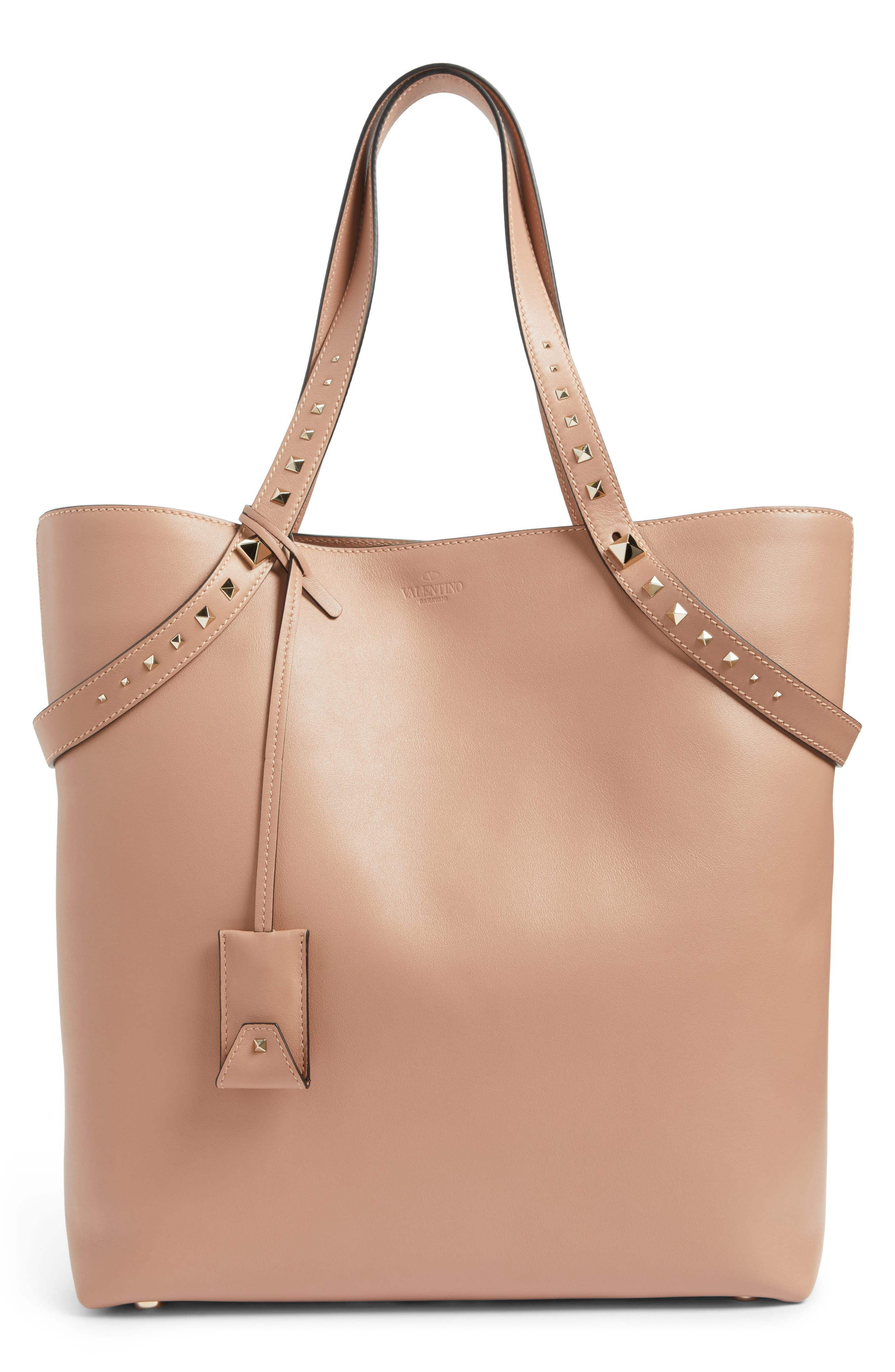 Lovestud Leather Tote,                             Main thumbnail 2, color,