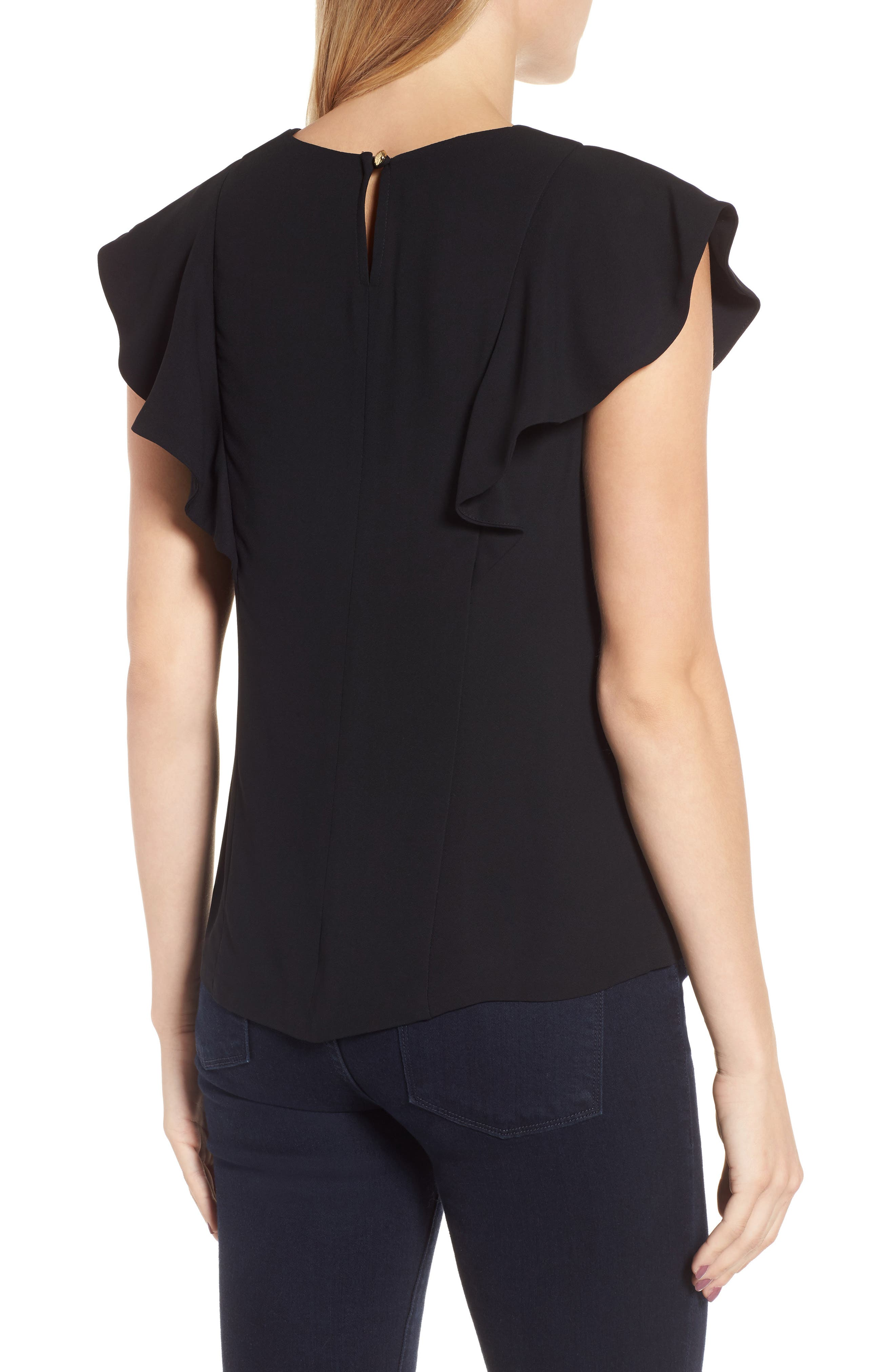 Solid Ruffle Top,                             Alternate thumbnail 2, color,