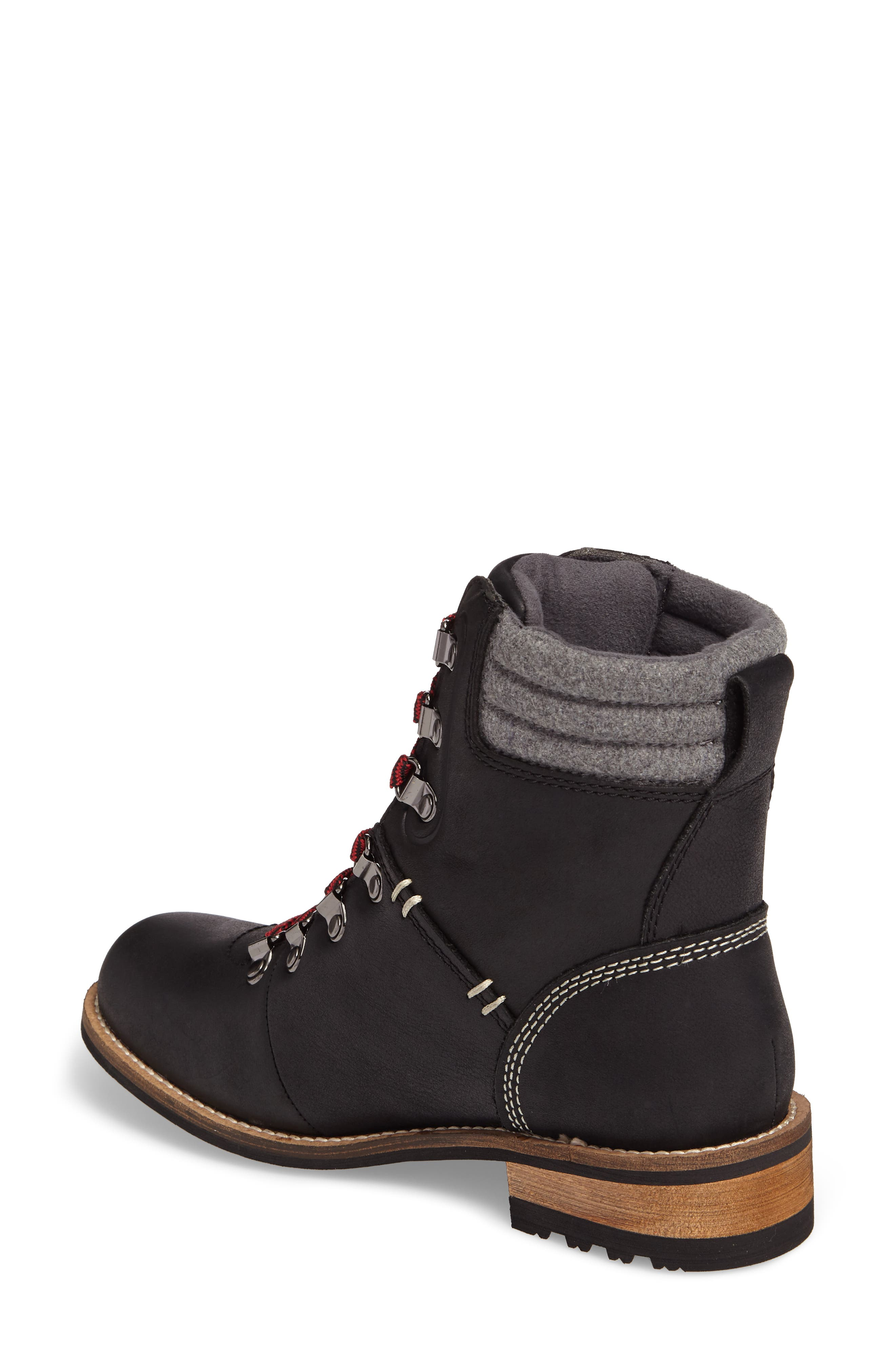 Surrey II Waterproof Boot,                             Alternate thumbnail 2, color,                             BLACK LEATHER