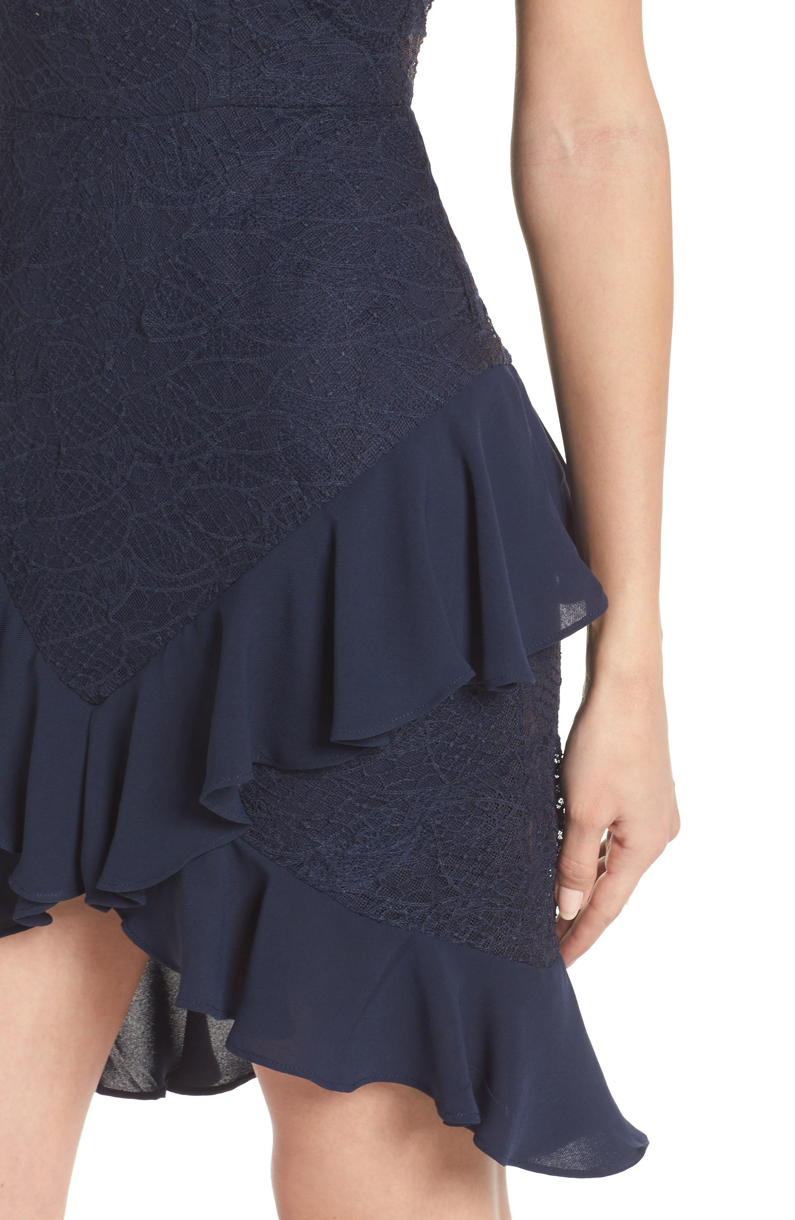 Amore Lace Minidress,                             Alternate thumbnail 4, color,                             450