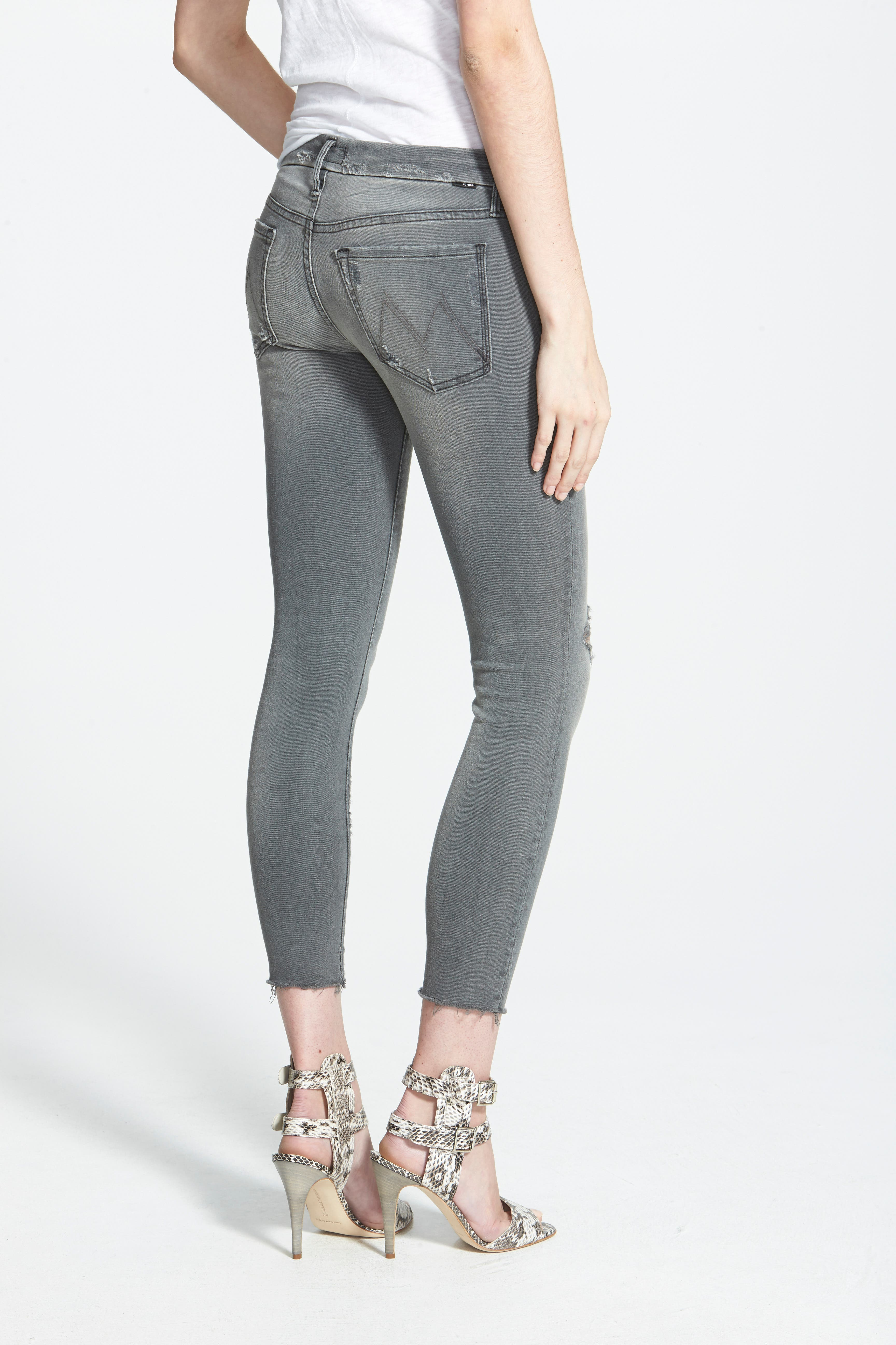Frayed Ankle Jeans,                             Alternate thumbnail 3, color,                             020