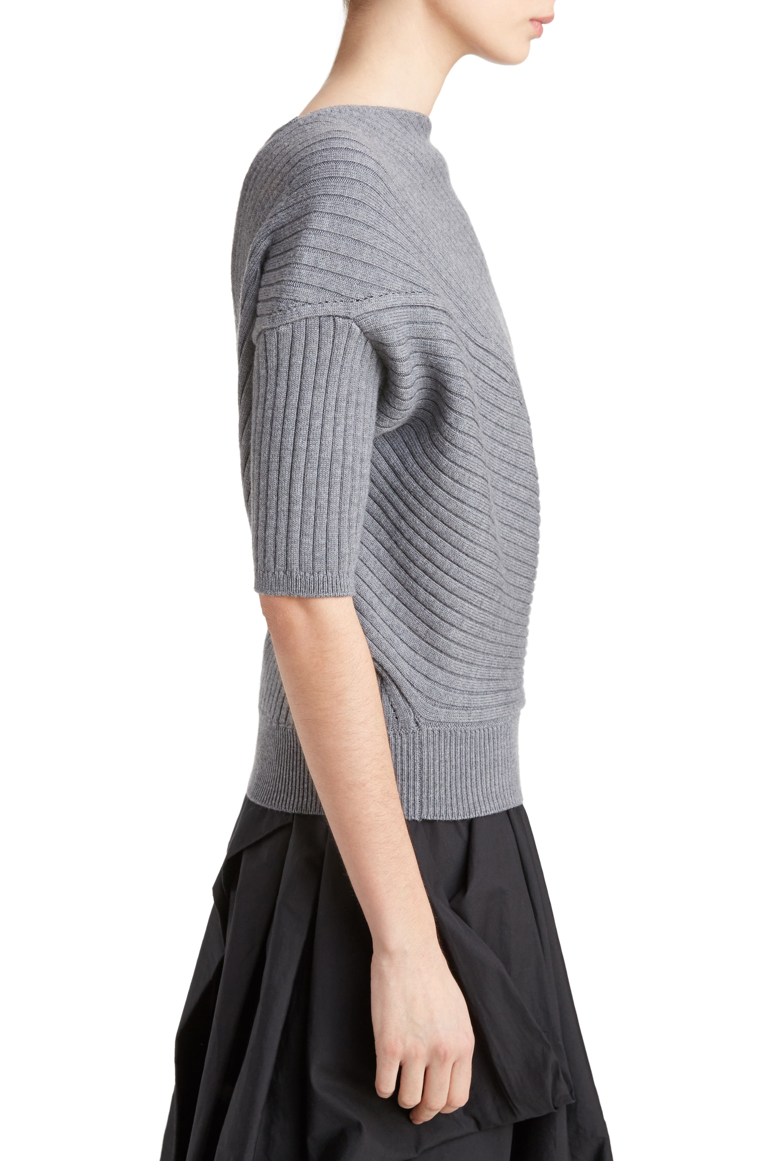 J.W.ANDERSON Infiniti Ribbed Wool Sweater,                             Alternate thumbnail 3, color,                             050