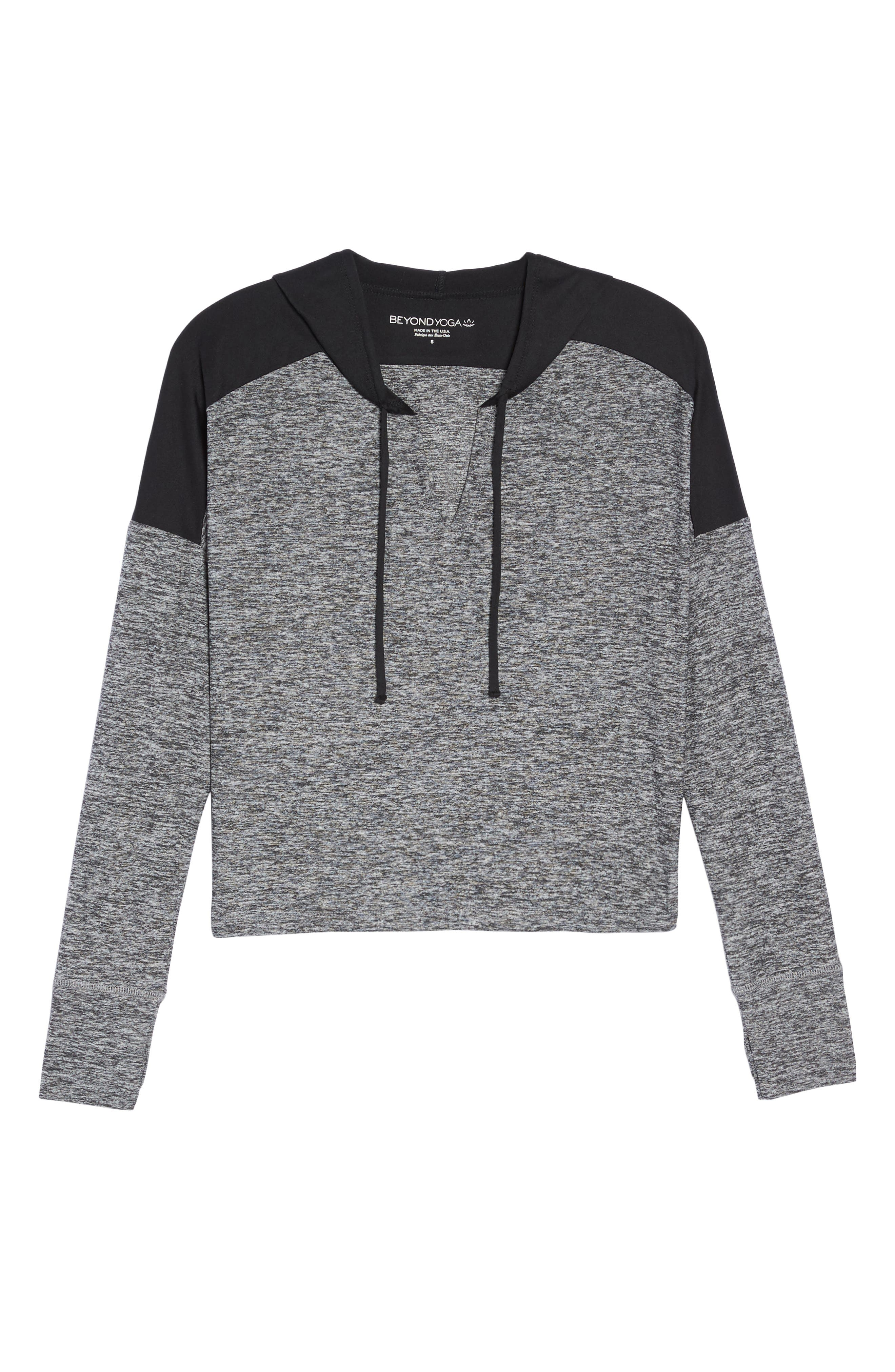 Cut & Run Crop Hoodie,                             Alternate thumbnail 7, color,