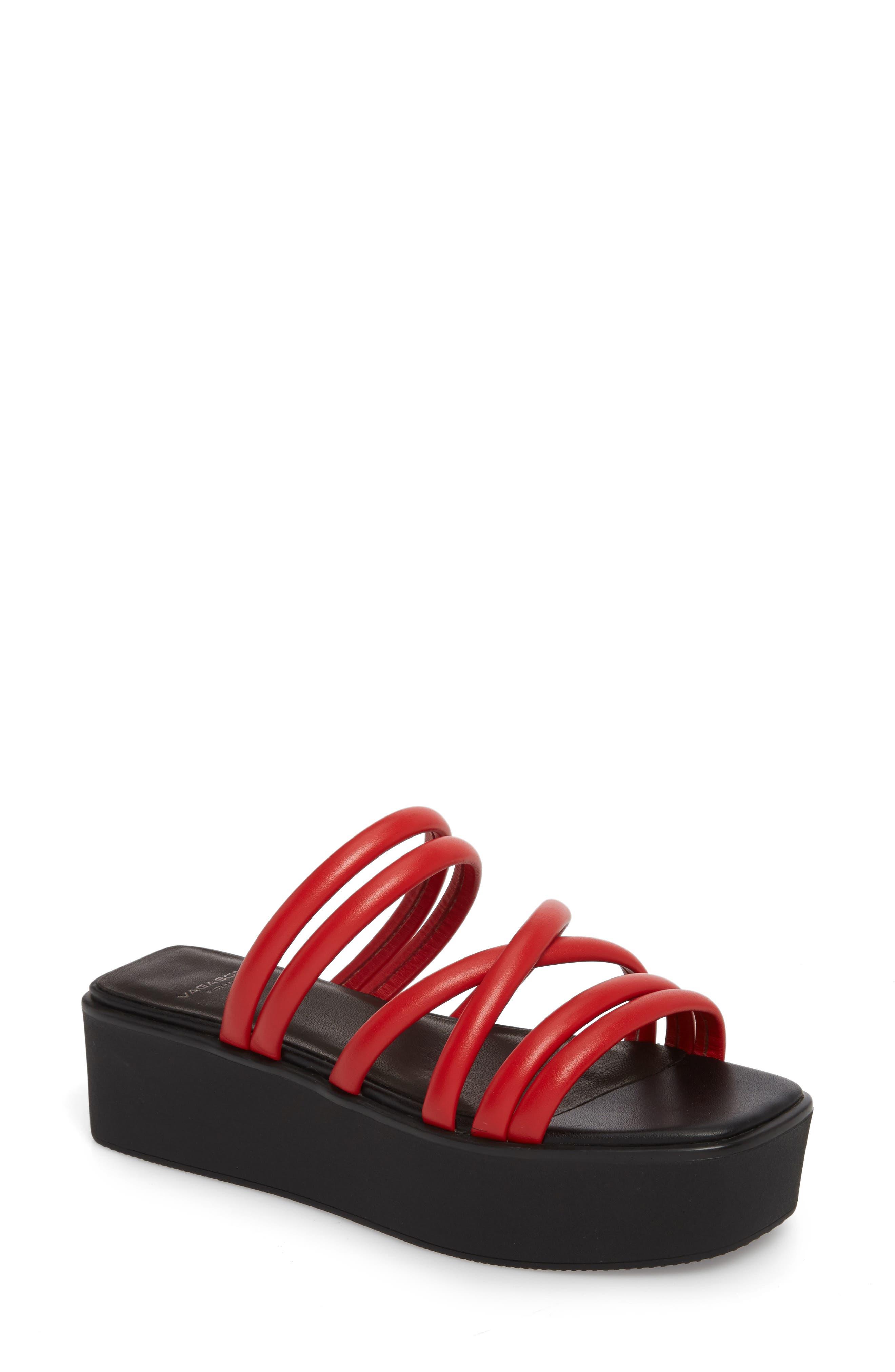 Vagabond Shoemakers Bonnie Platform Sandal, Red
