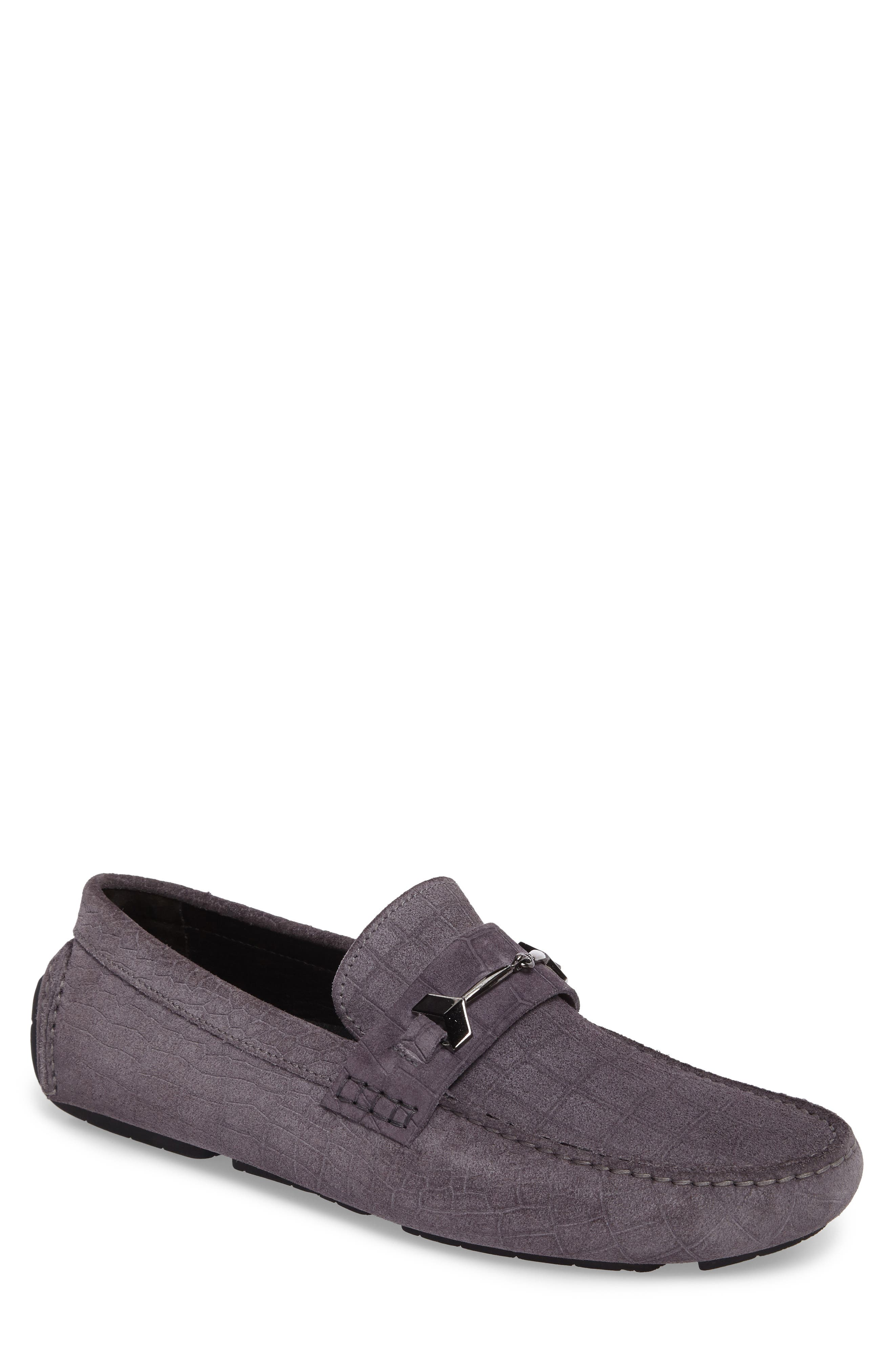 Brewer Croc Textured Driving Loafer,                             Main thumbnail 2, color,