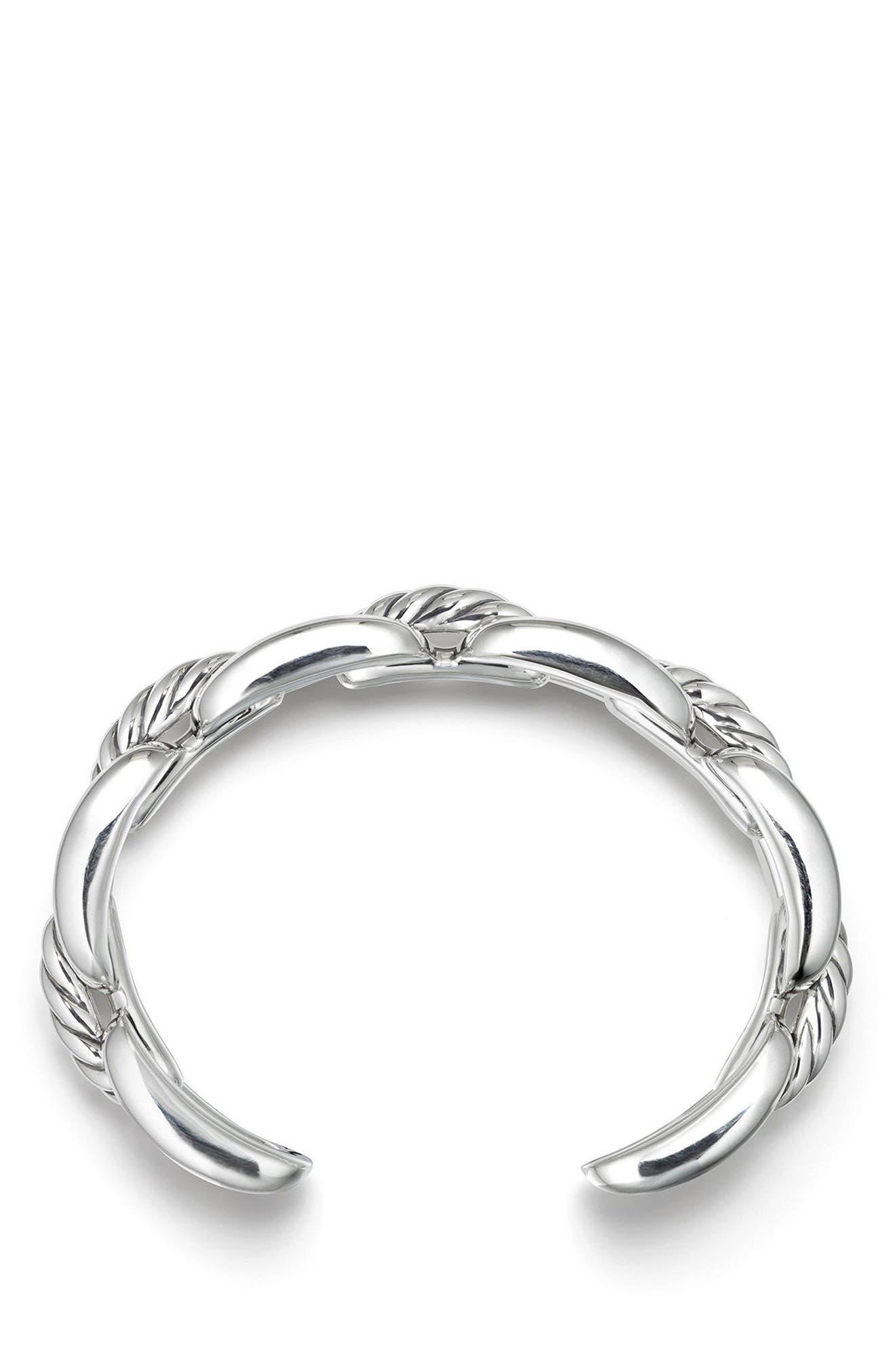 Wellesley Chain Link Cuff Bracelet,                             Alternate thumbnail 2, color,                             SILVER