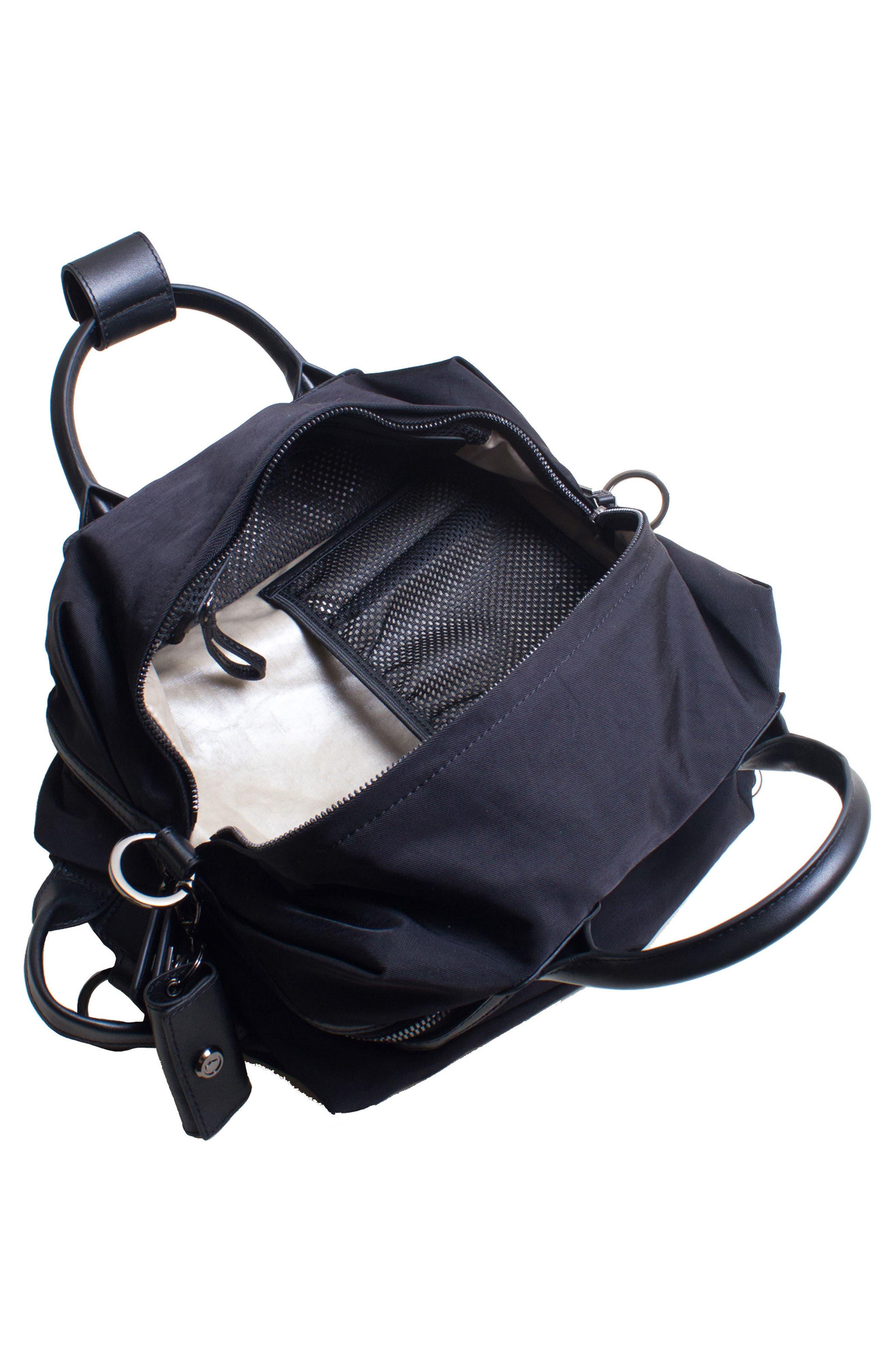 Studio Medium Duffel Backpack,                             Alternate thumbnail 4, color,                             BLACK