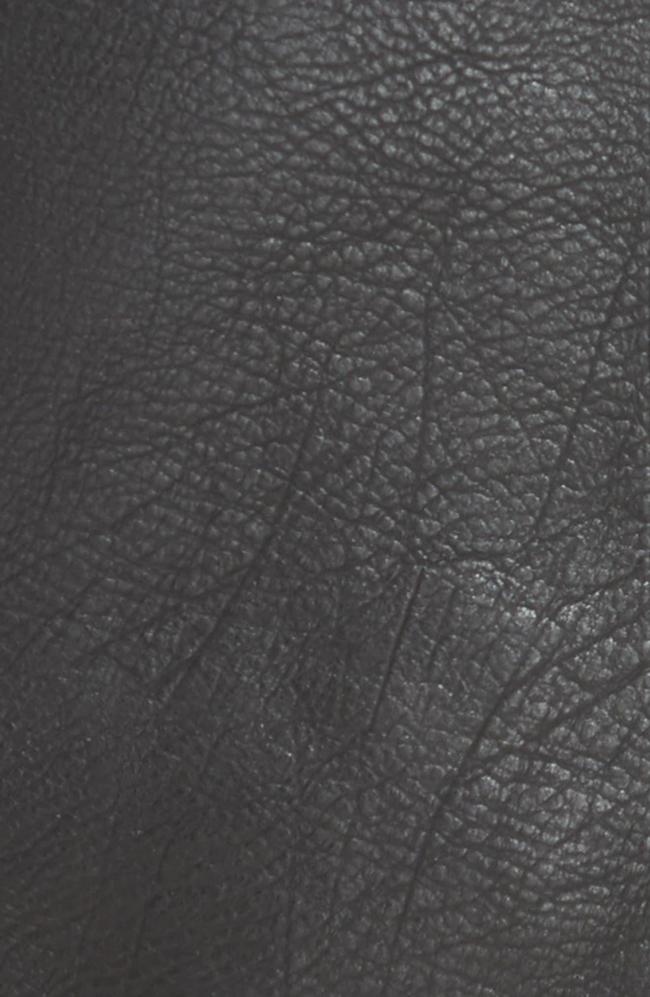 Retro Faux Leather Body-Con Miniskirt,                             Alternate thumbnail 5, color,                             001