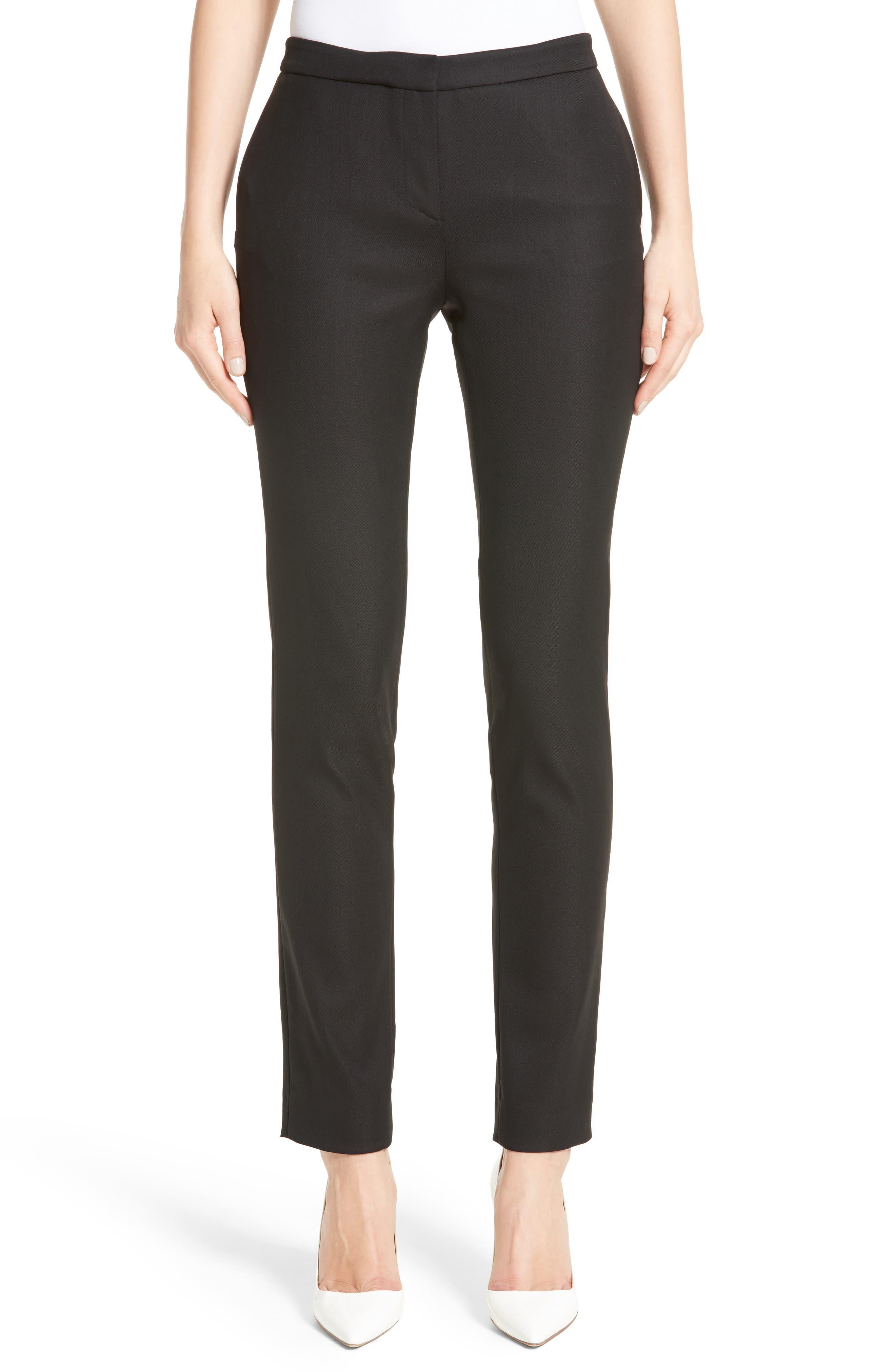 Wool Blend Skinny Pants,                         Main,                         color, 001