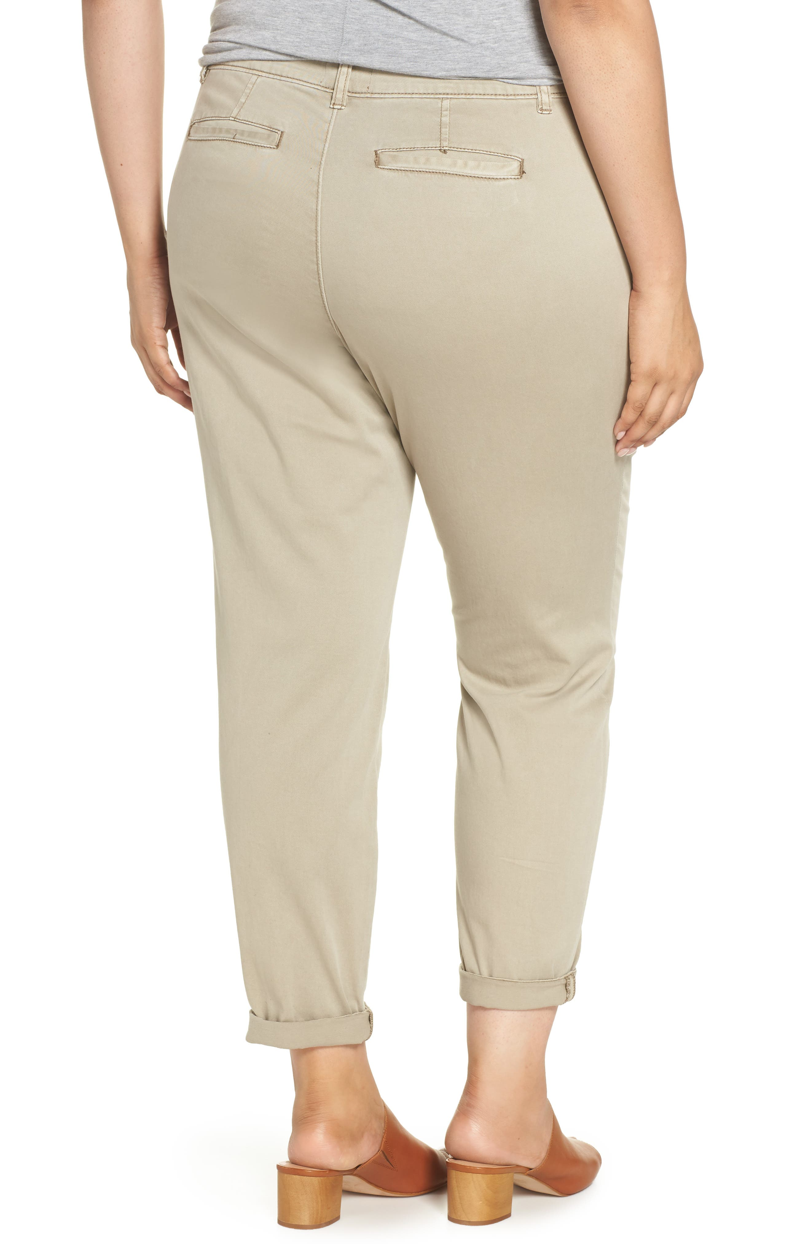 CASLON<SUP>®</SUP>,                             Boyfriend Stretch Cotton Chino Pants,                             Alternate thumbnail 2, color,                             TAN COBBLESTONE
