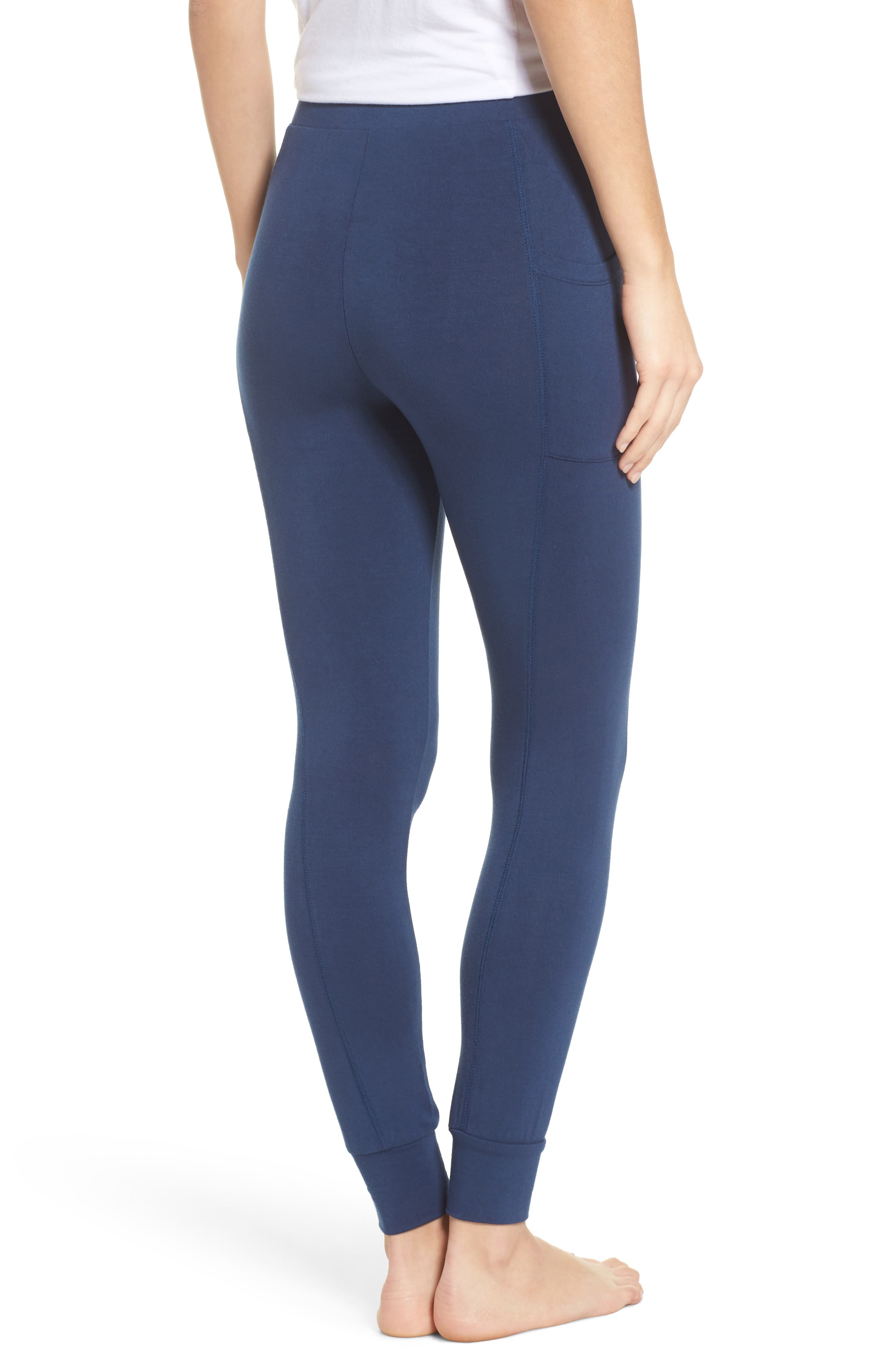 Kickin' It French Terry High Waist Lounge Leggings,                             Alternate thumbnail 2, color,                             400