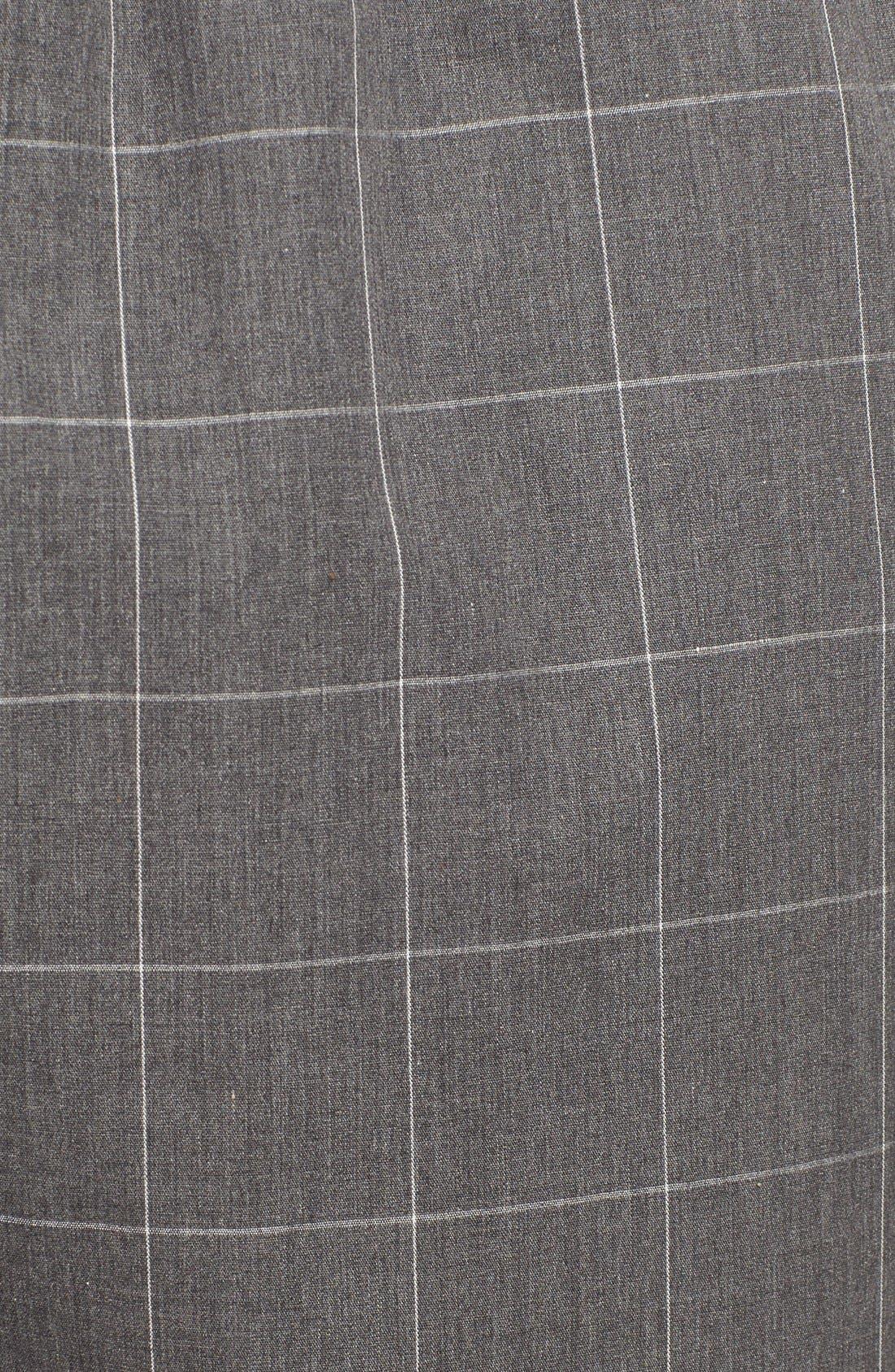 Cotton Pajama Pants,                             Alternate thumbnail 5, color,                             CHARCOAL