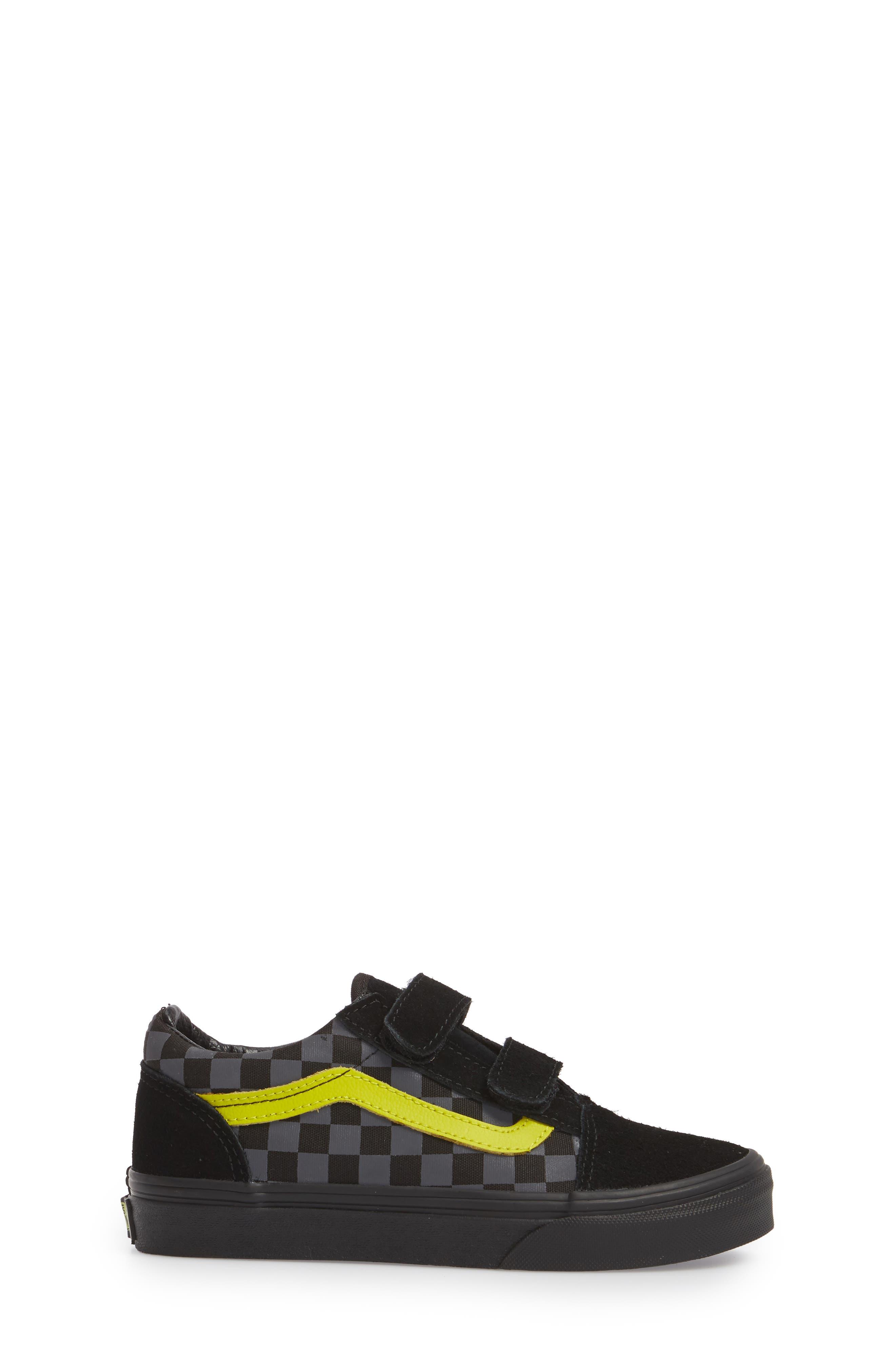 Reflective Checkerboard Old Skool V Sneaker,                             Alternate thumbnail 3, color,