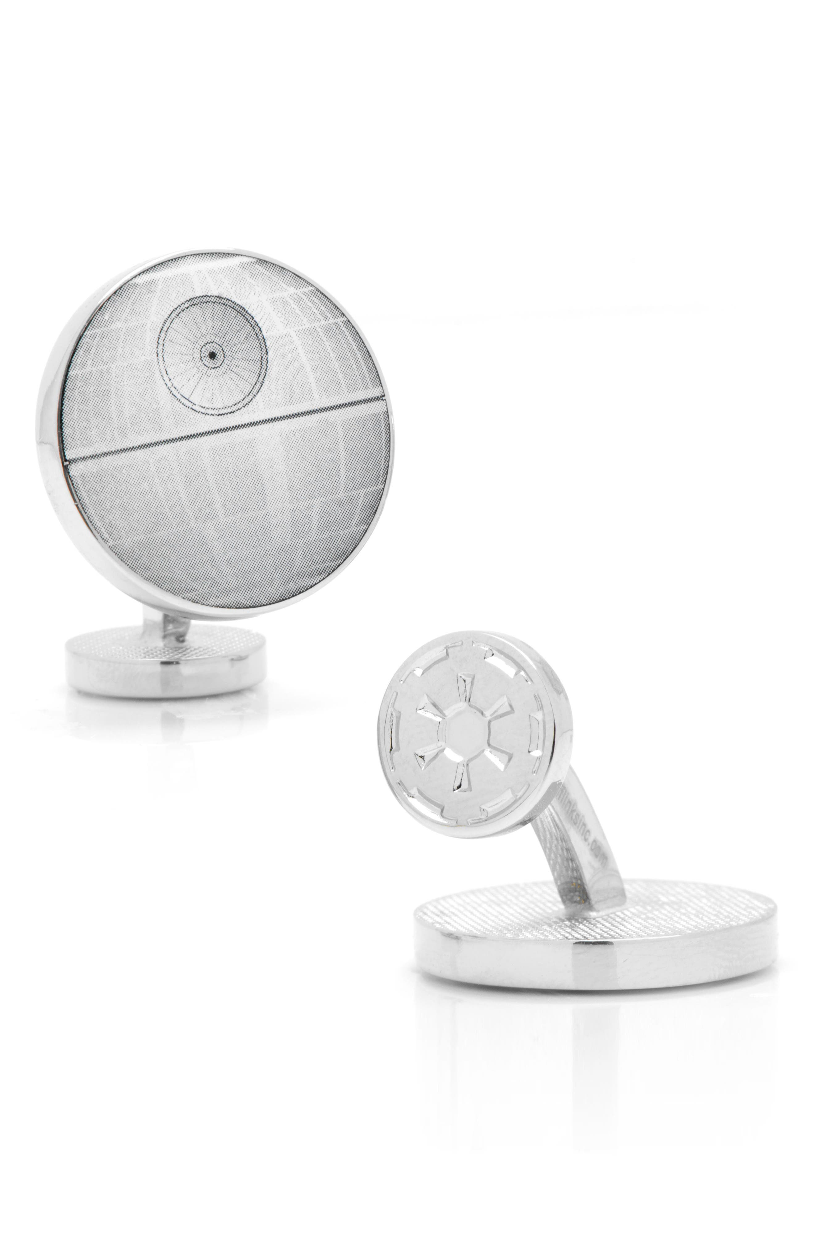 'Star Wars<sup>™</sup> - Death Star Blueprint' Cuff Links,                             Alternate thumbnail 4, color,                             020
