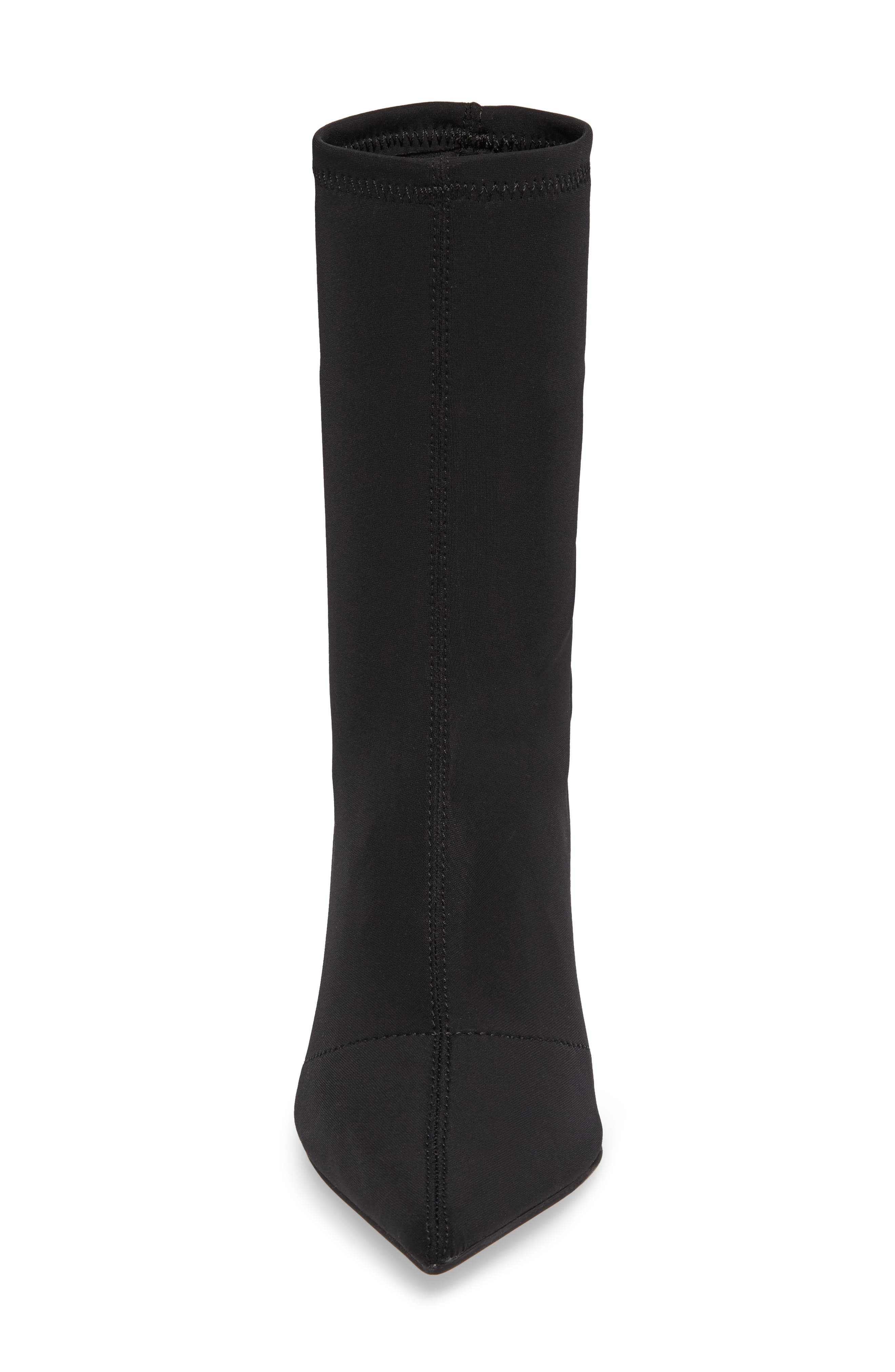 Lombard Pointy Toe Sock Bootie,                             Alternate thumbnail 4, color,                             001