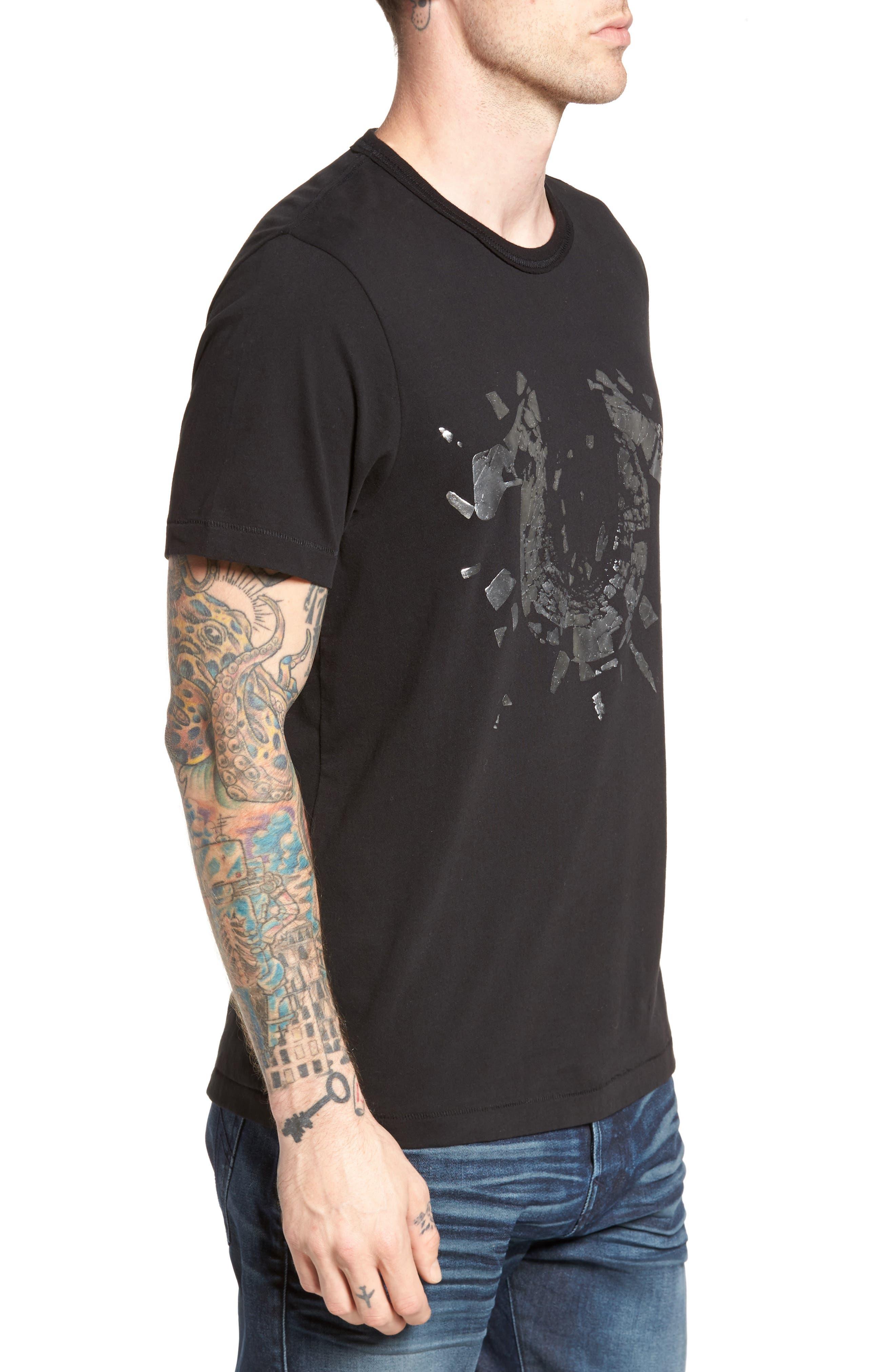 Metallic Logo T-Shirt,                             Alternate thumbnail 3, color,                             001