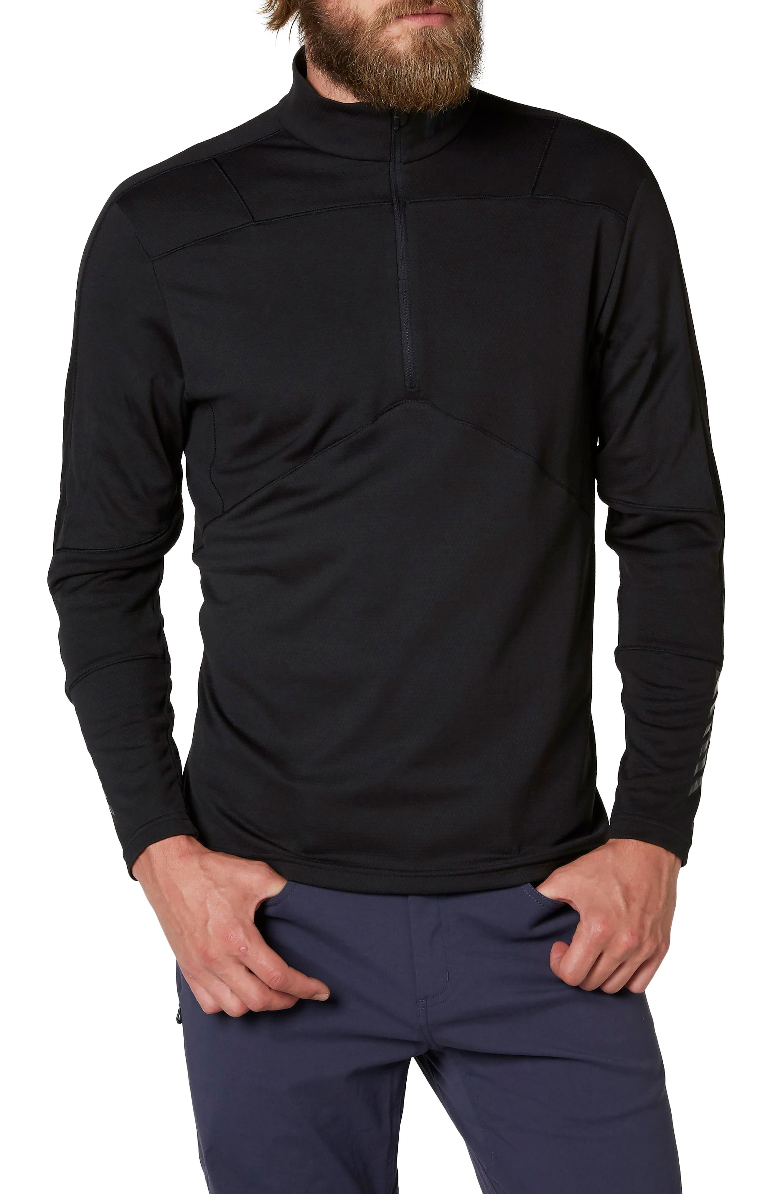 HH<sup>®</sup> Lifa Quarter Zip Pullover,                         Main,                         color, 001