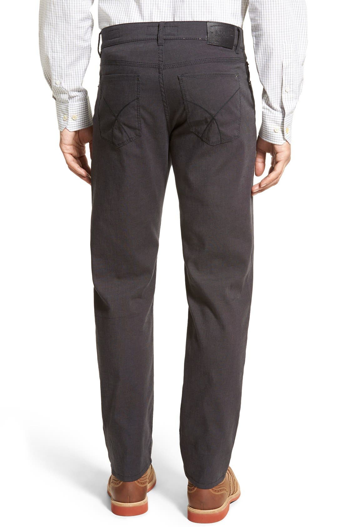 BRAX,                             Flat Front Stretch Cotton Trousers,                             Alternate thumbnail 2, color,                             019