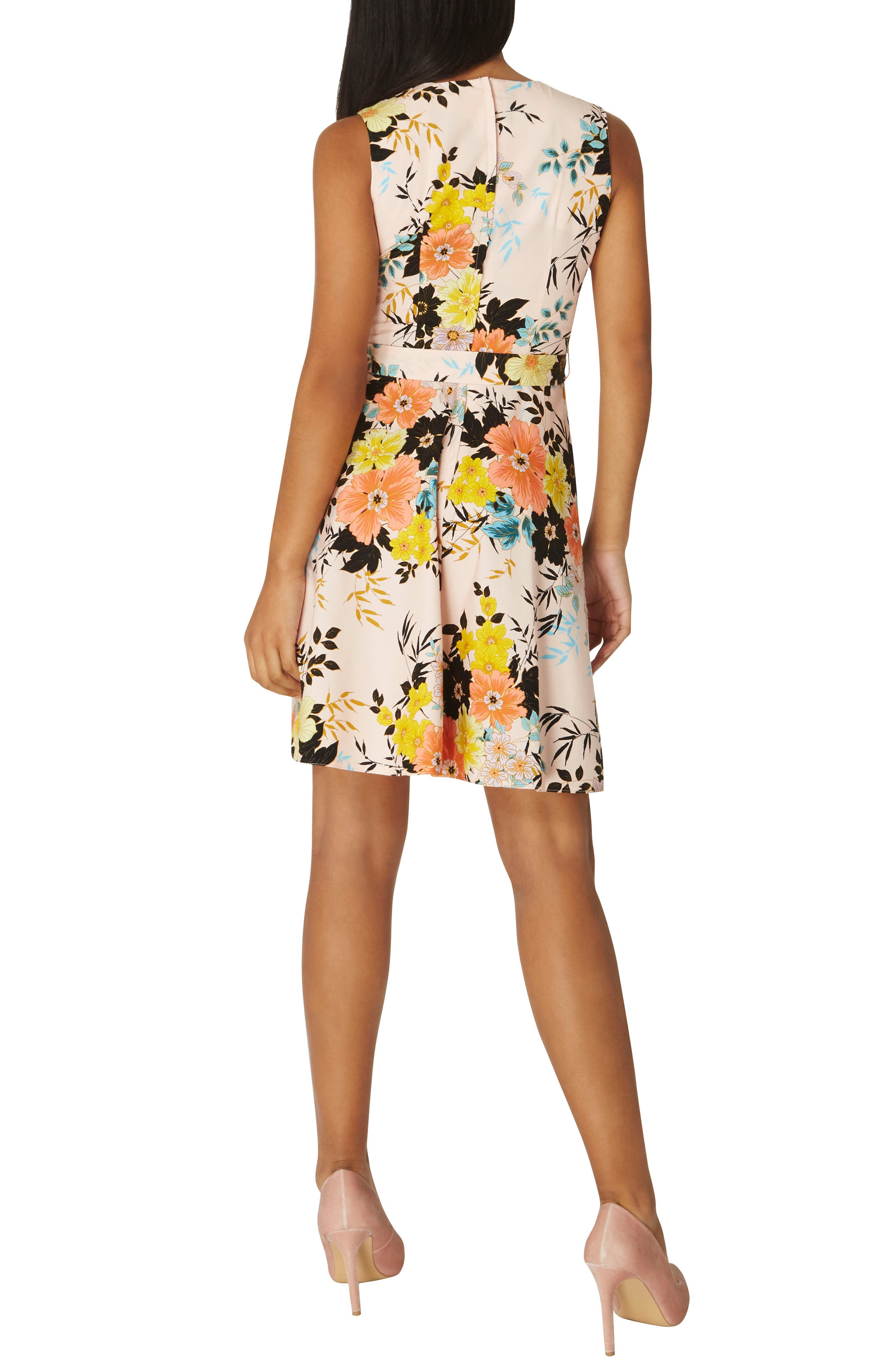 Floral Poplin Wrap Dress,                             Alternate thumbnail 2, color,