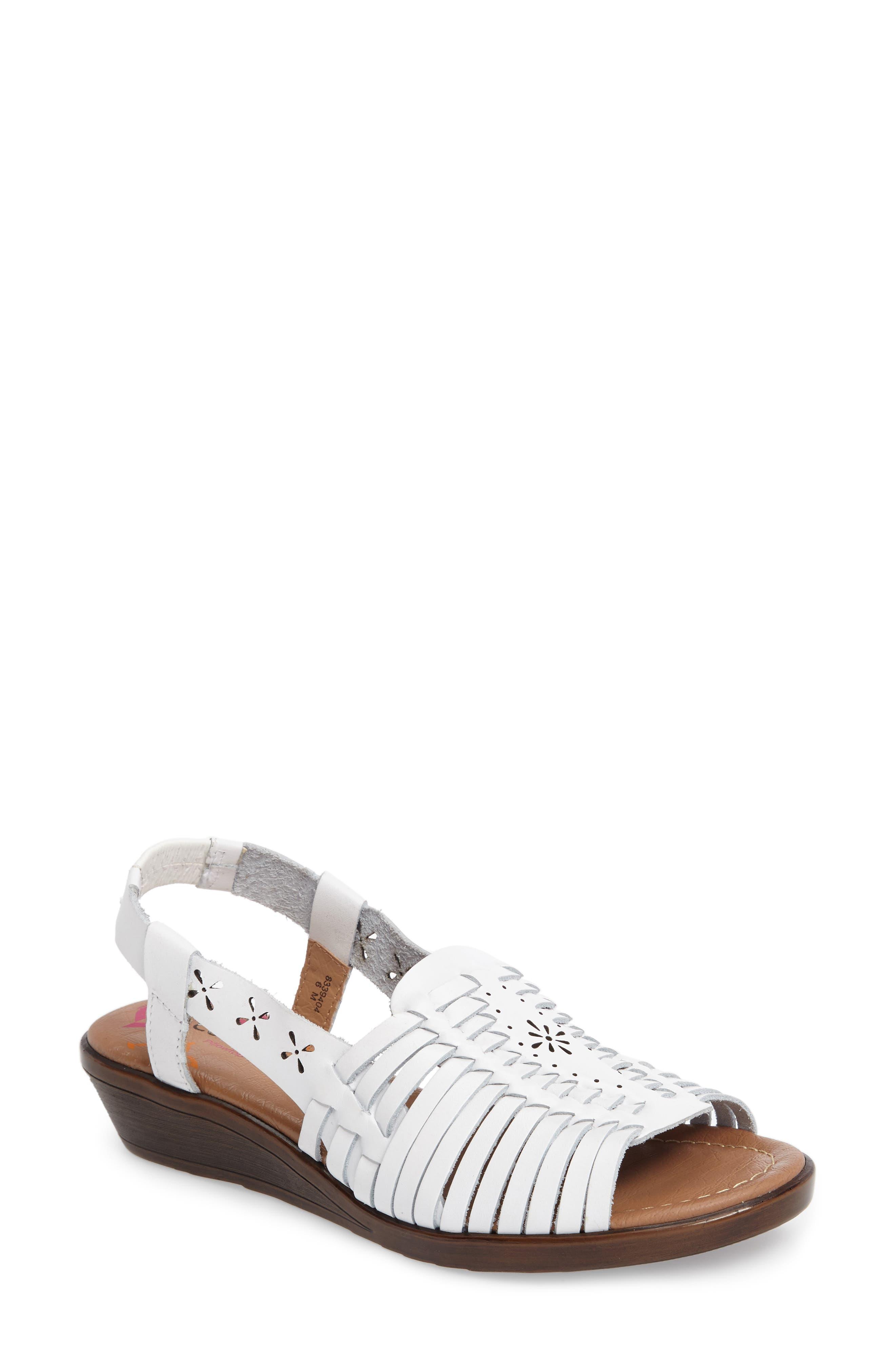 Formasa Huarache Slingback Sandal,                         Main,                         color, 100